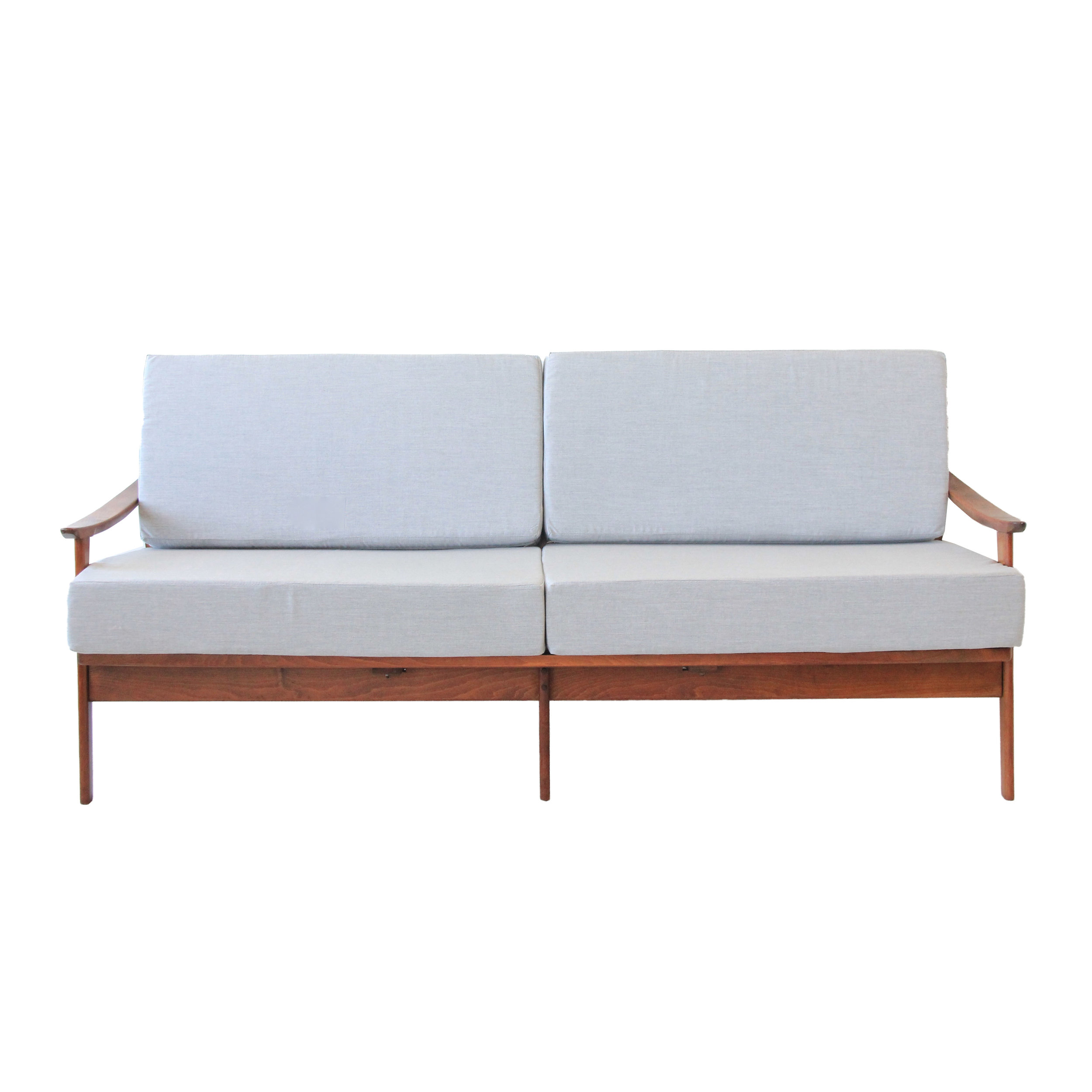 Vintage Mid Century Modern Grey Day Bed