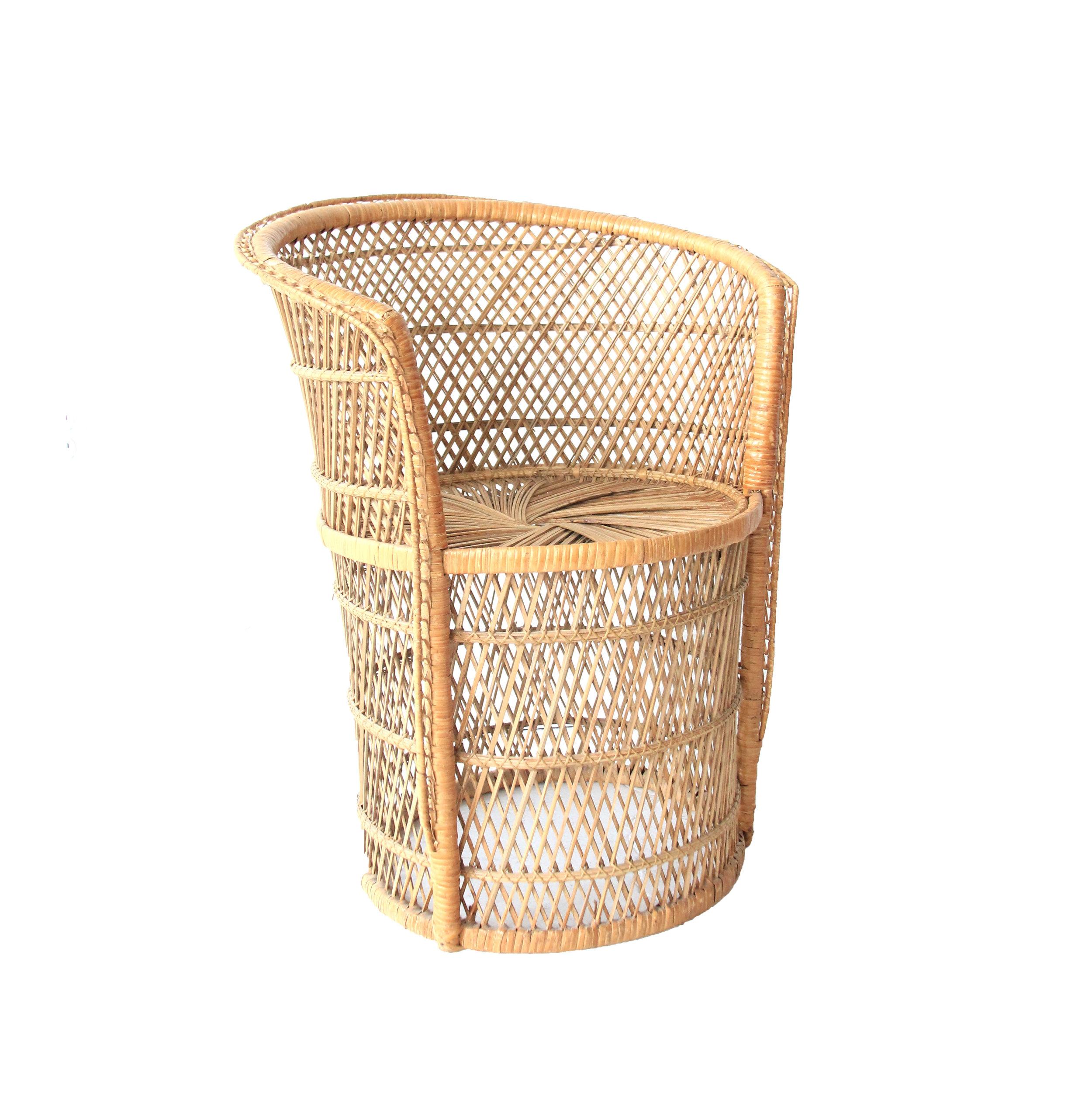 Vintage Buri Fan Chair