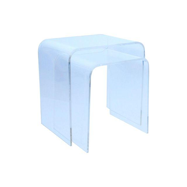 Vintage Lucite Nesting Tables