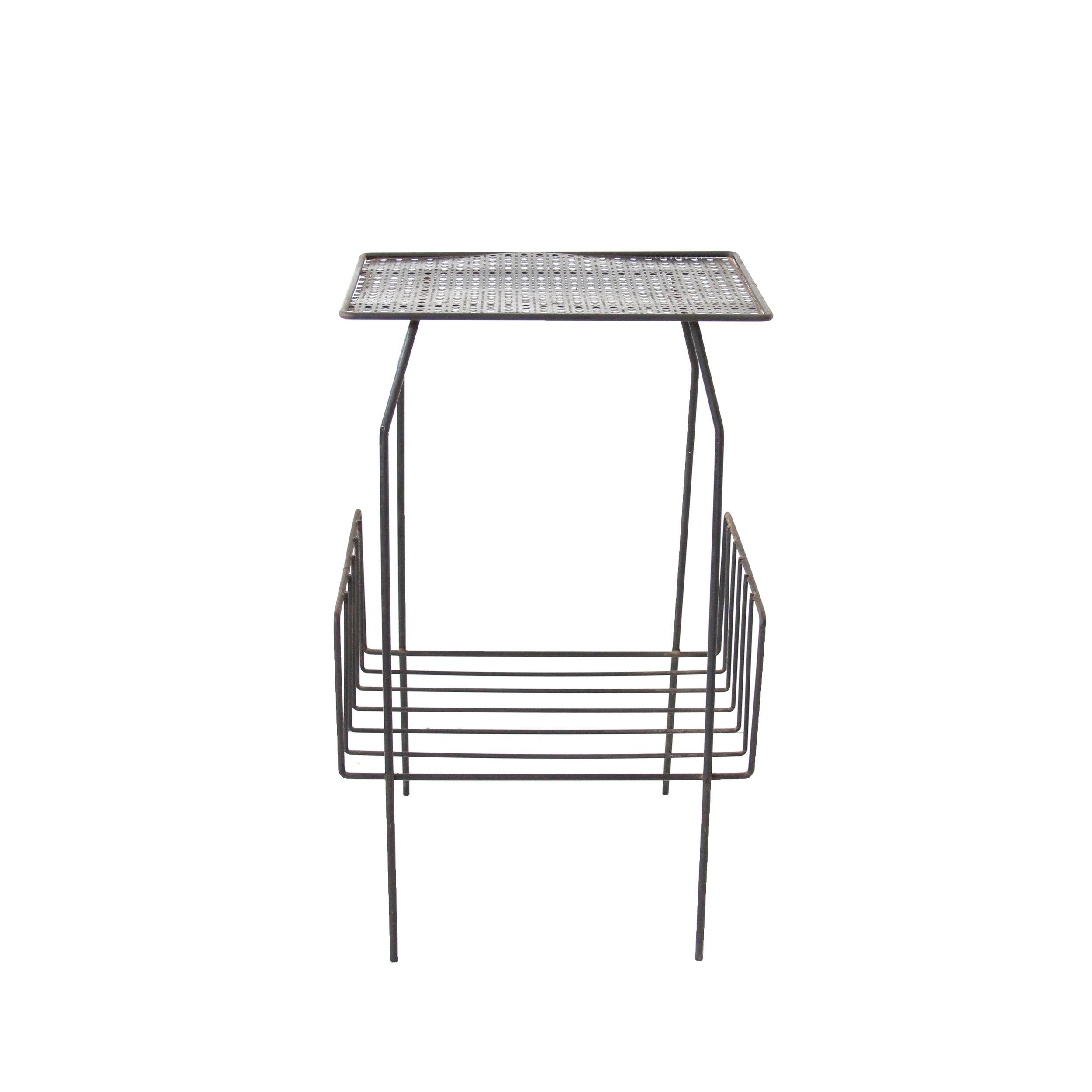 Vintage Mid Century Modern Mesh Metal Table