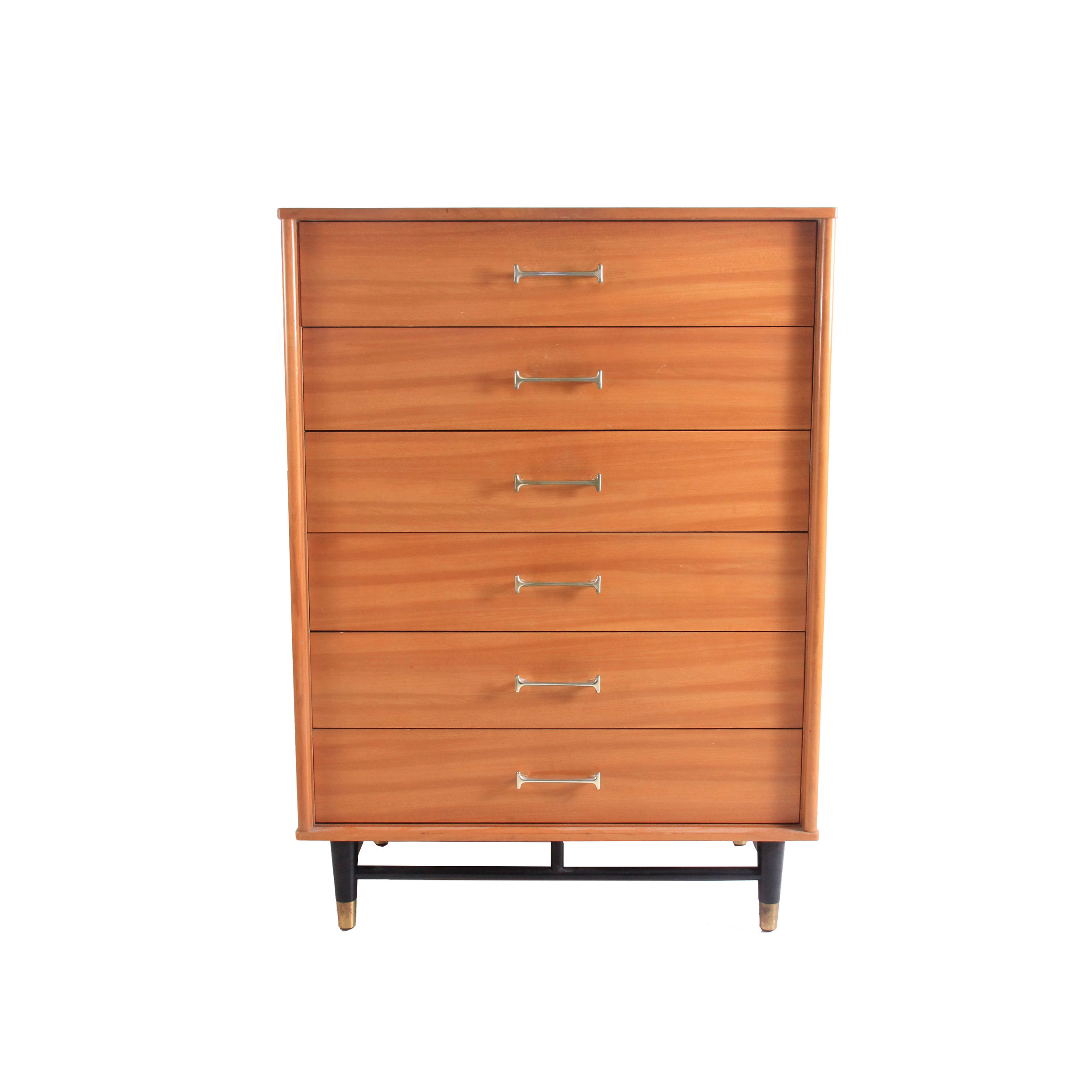 Vintage Mid Century Modern Highboy Dresser
