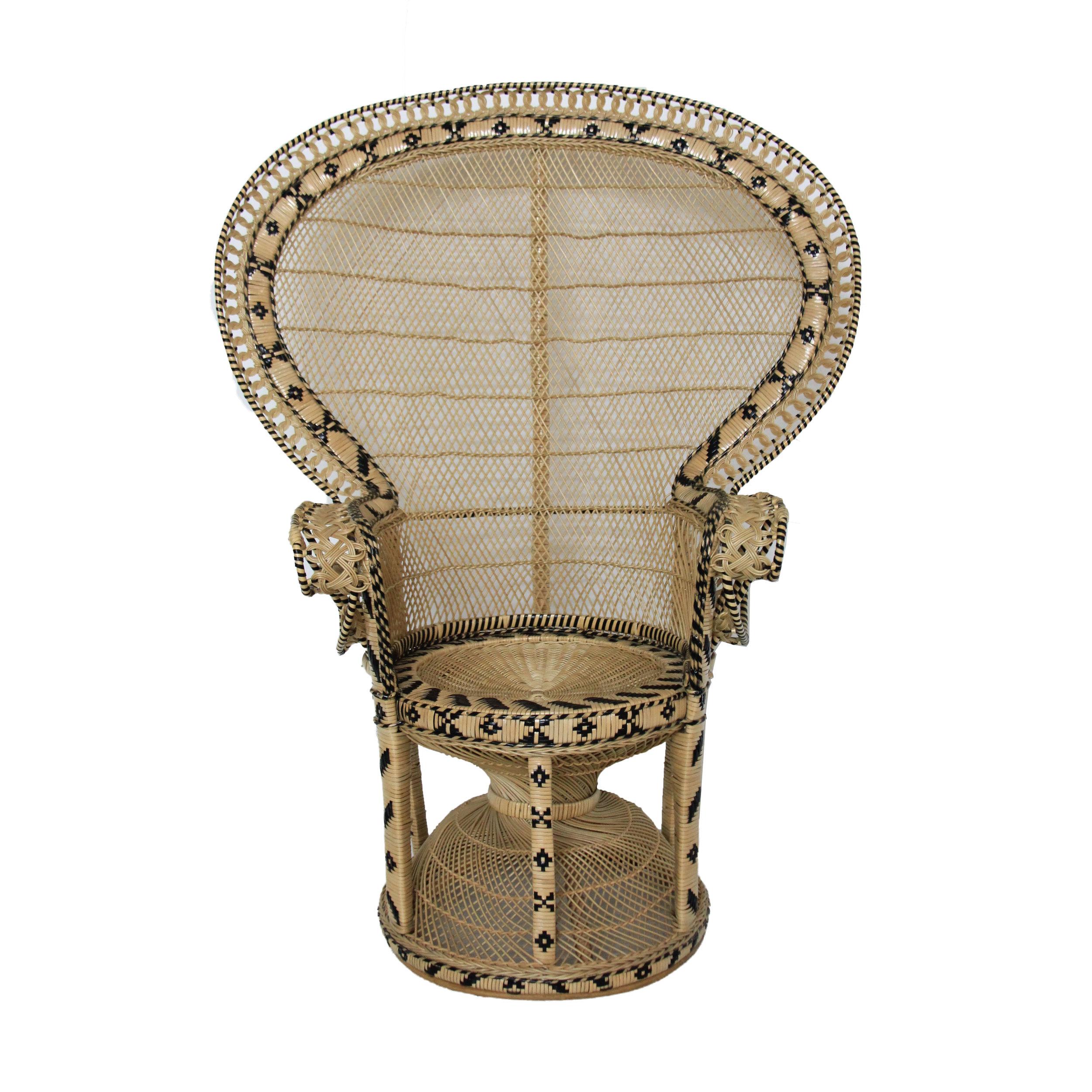 Vintage Fan Peacock Chair