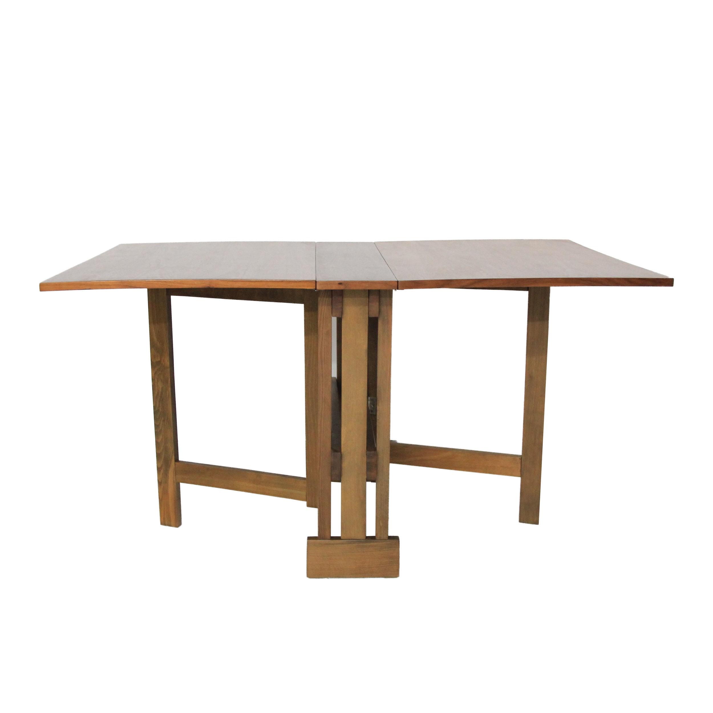 Vintage Mid Century Modern Folding Dining Table