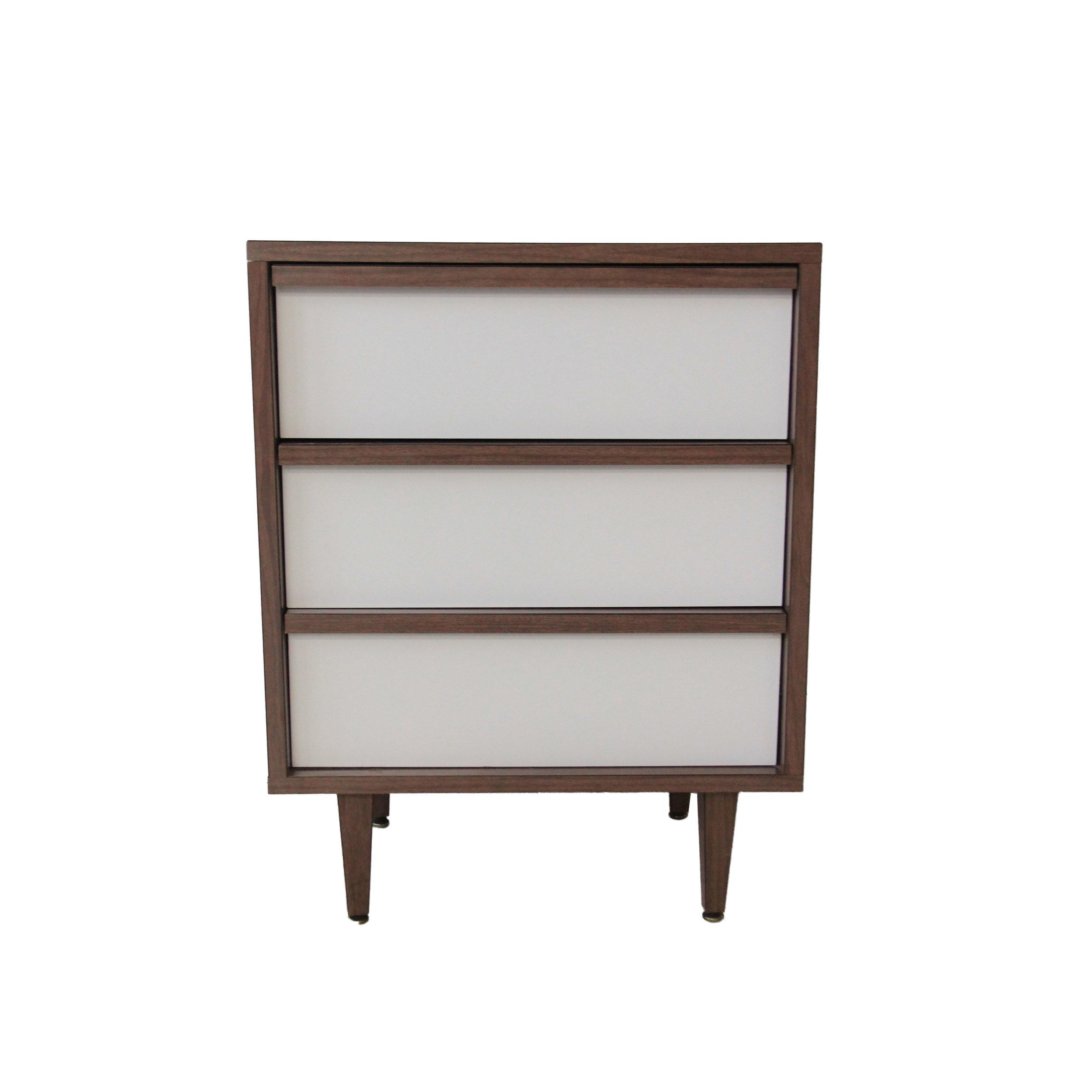 Vintage Mid Century Modern Laminate Dresser