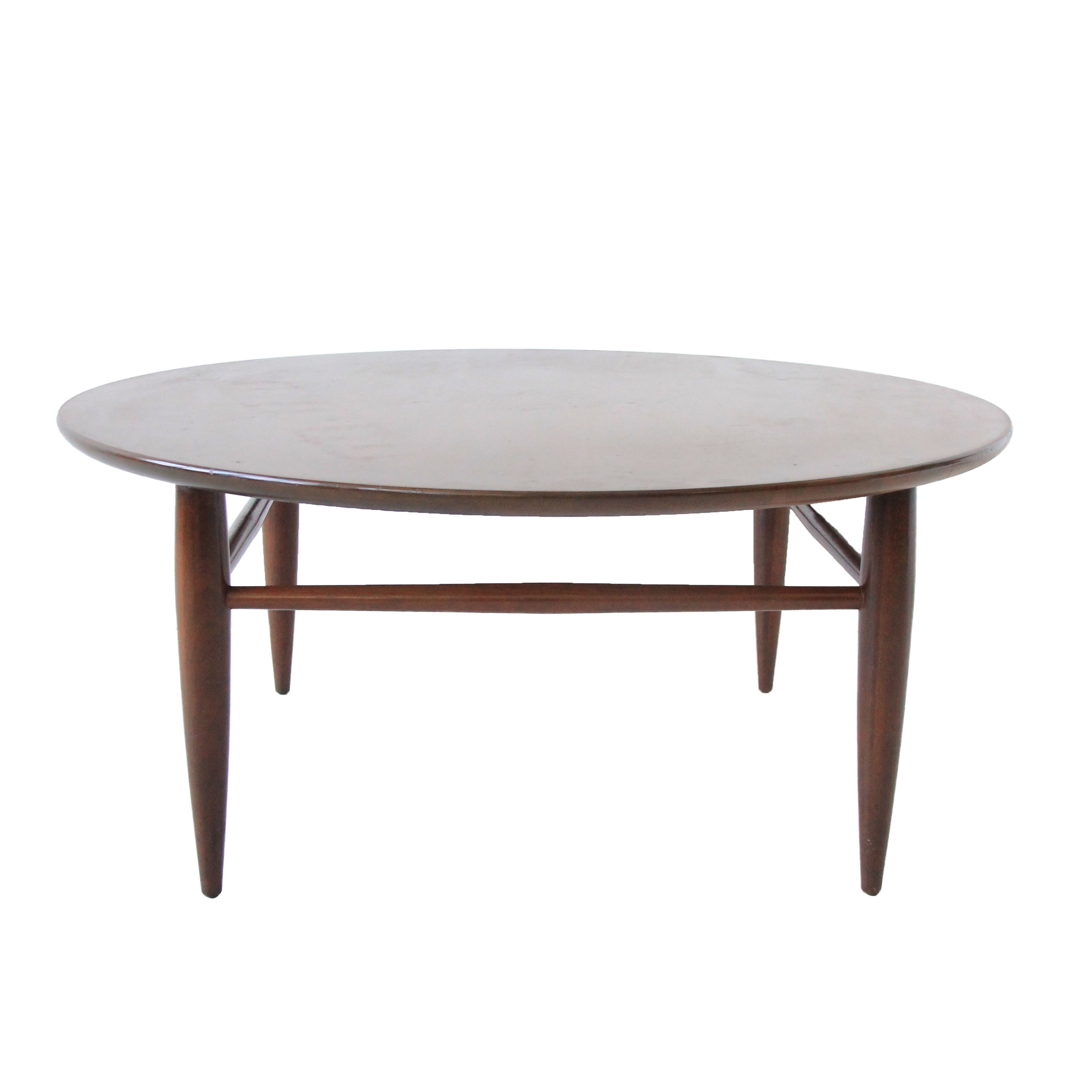 Vintage Mid Century Modern Round Coffee Table