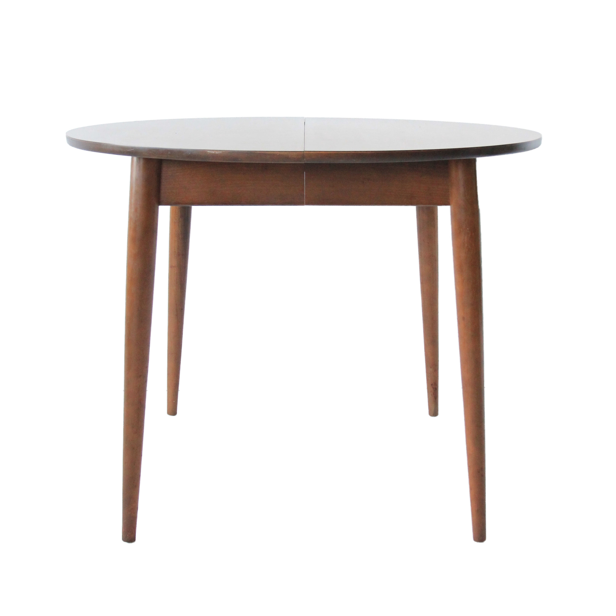 Vintage Mid Century Modern Round Dining Table