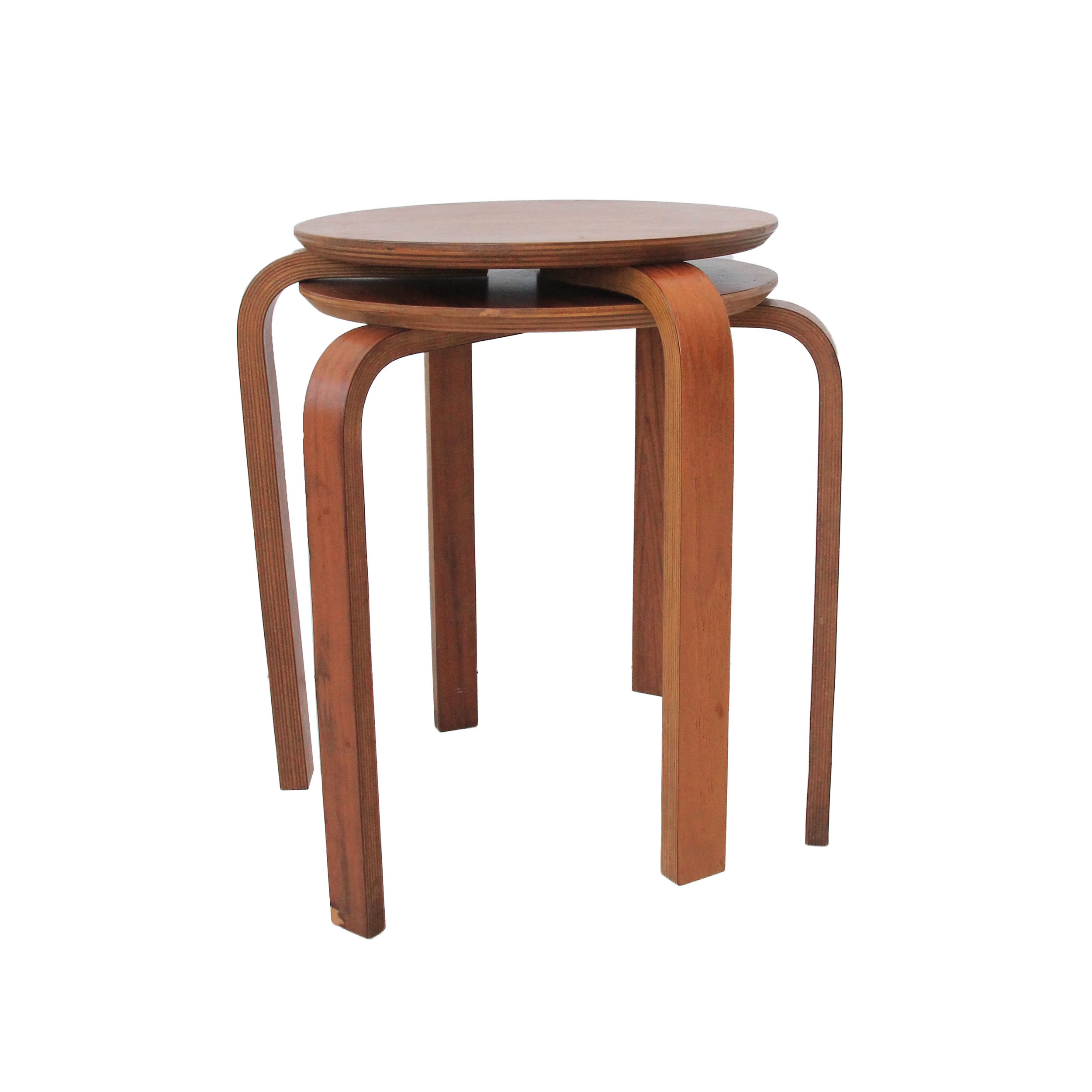 Vintage Mid Century Modern Bentwood Stacking Side Tables