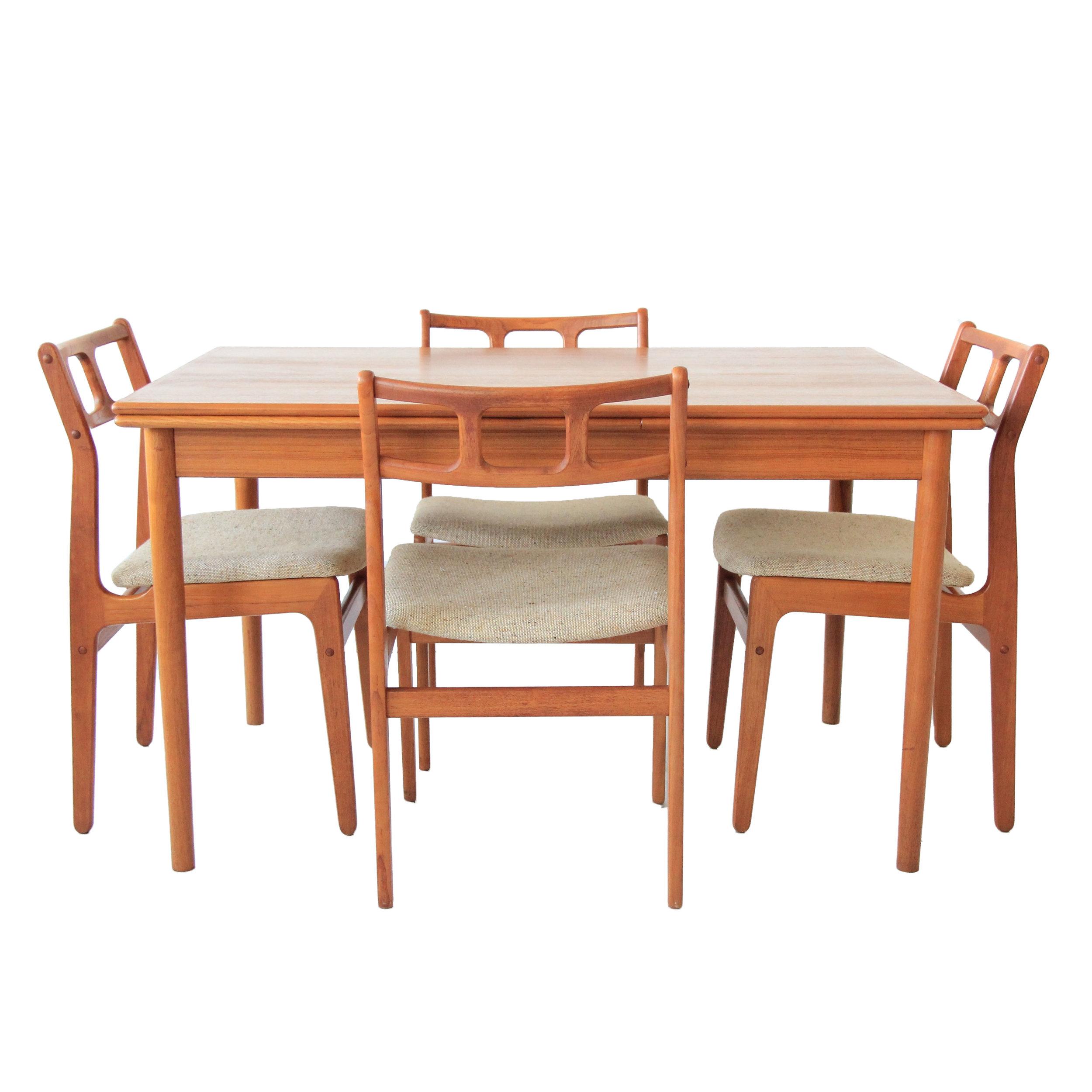 Vintage Mid Century Modern Teak Dining Set