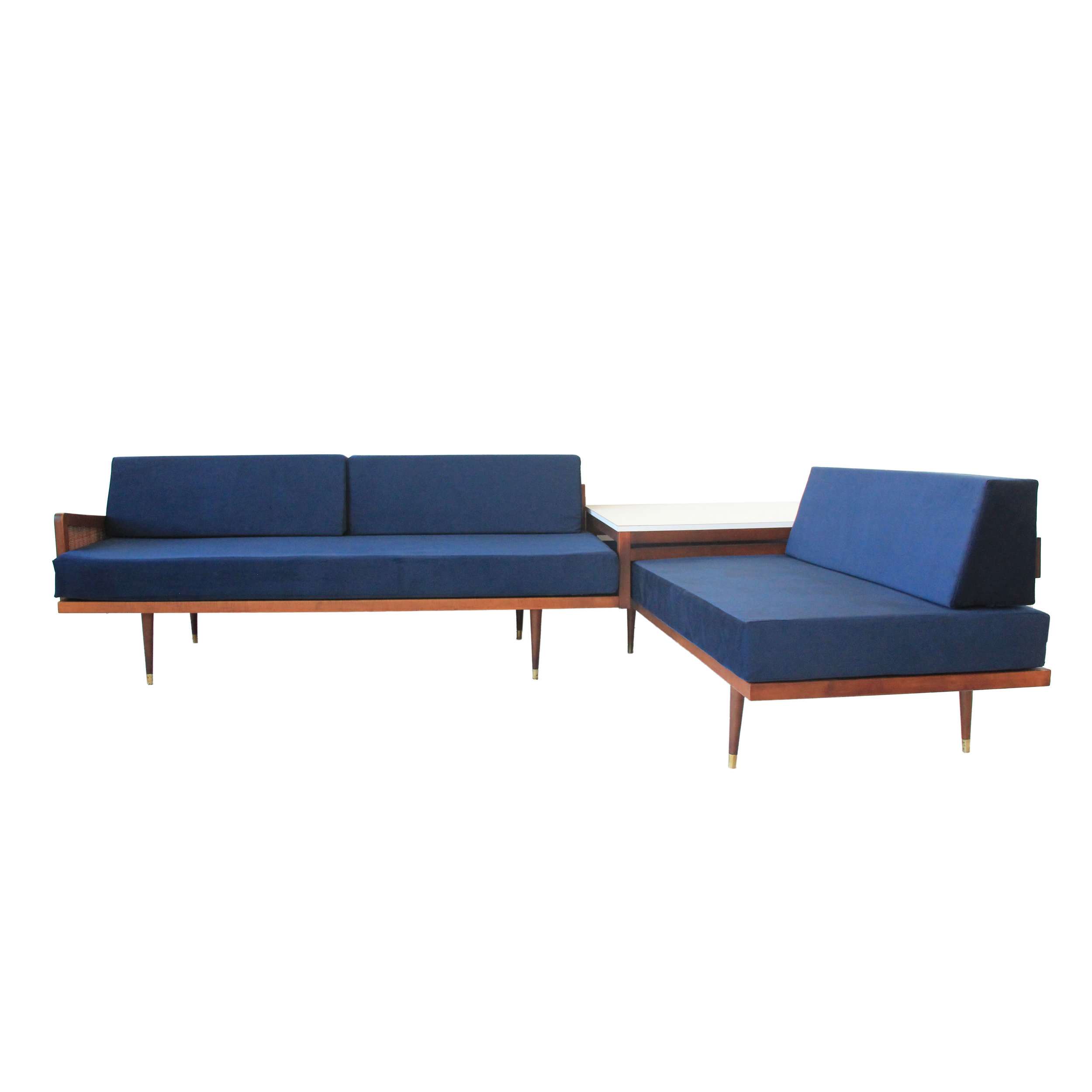 Vintage Mid Century Modern Sectional Sofa