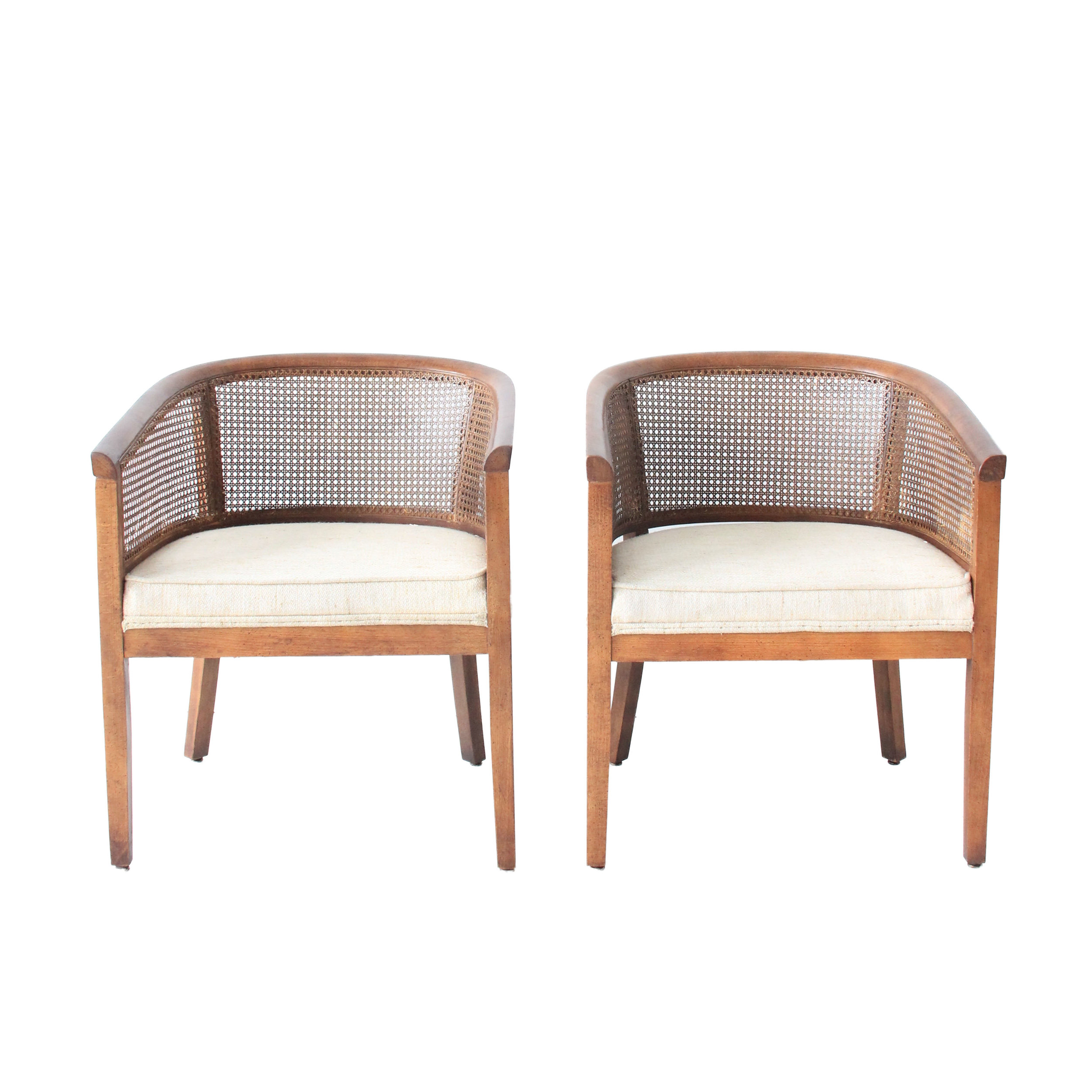 Vintage Cane Accent Chairs