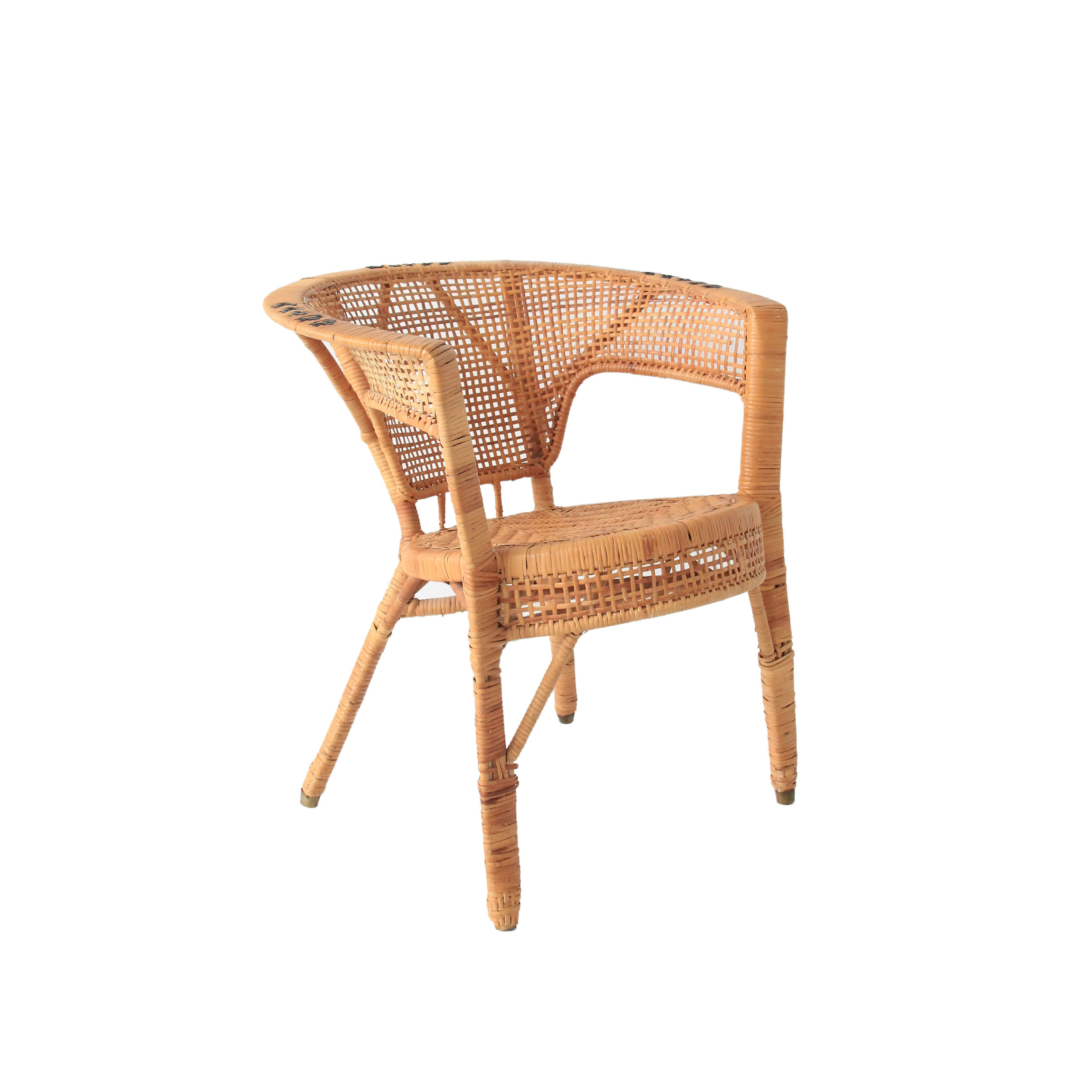 Vintage Rattan Side Chair