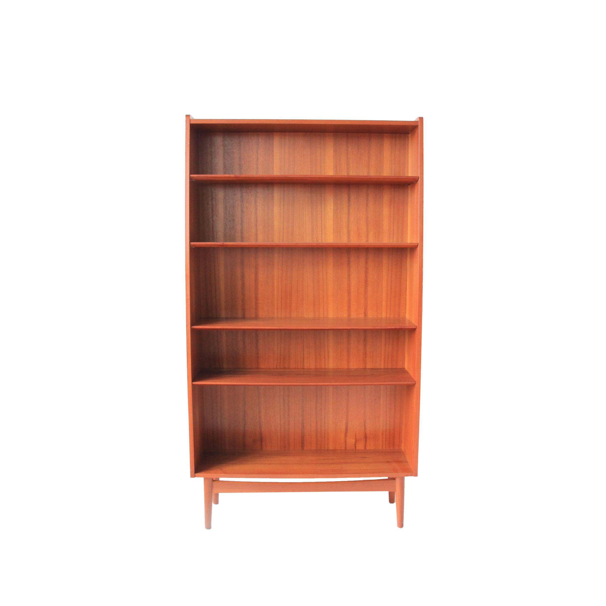 Vintage Mid Century Modern Teak Bookcase