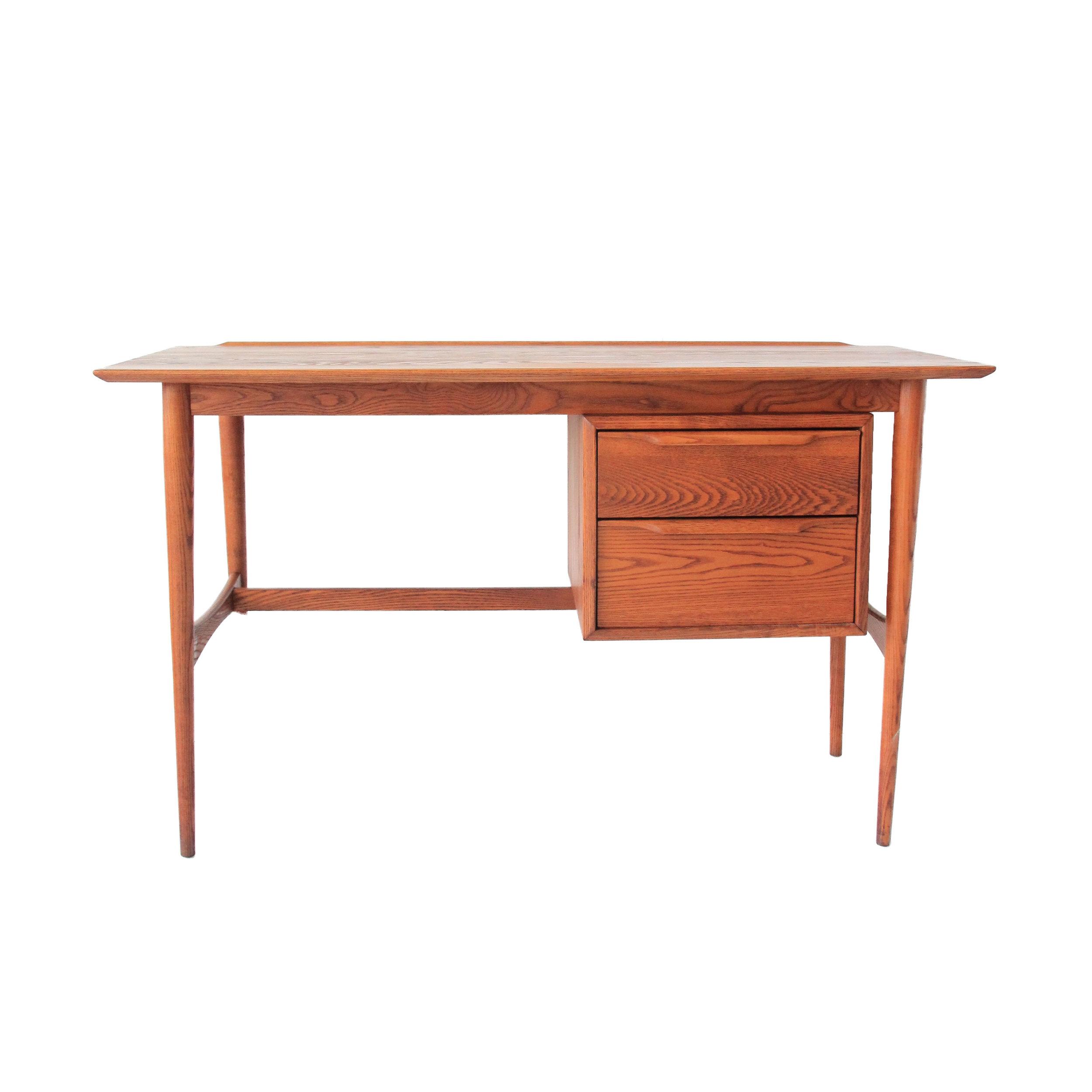 Vintage Mid Century Modern Teak Desk