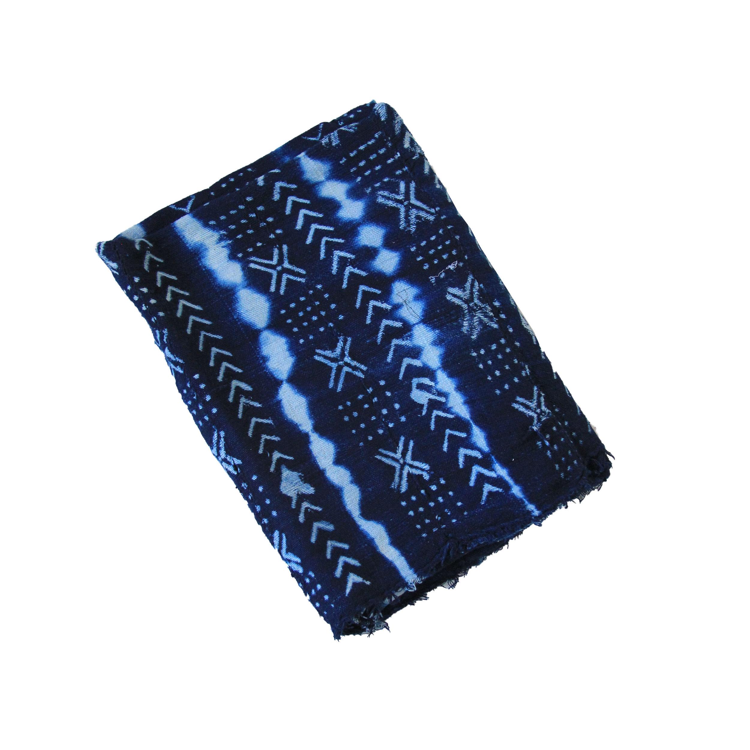 Vintage African Indigo Mudcloth