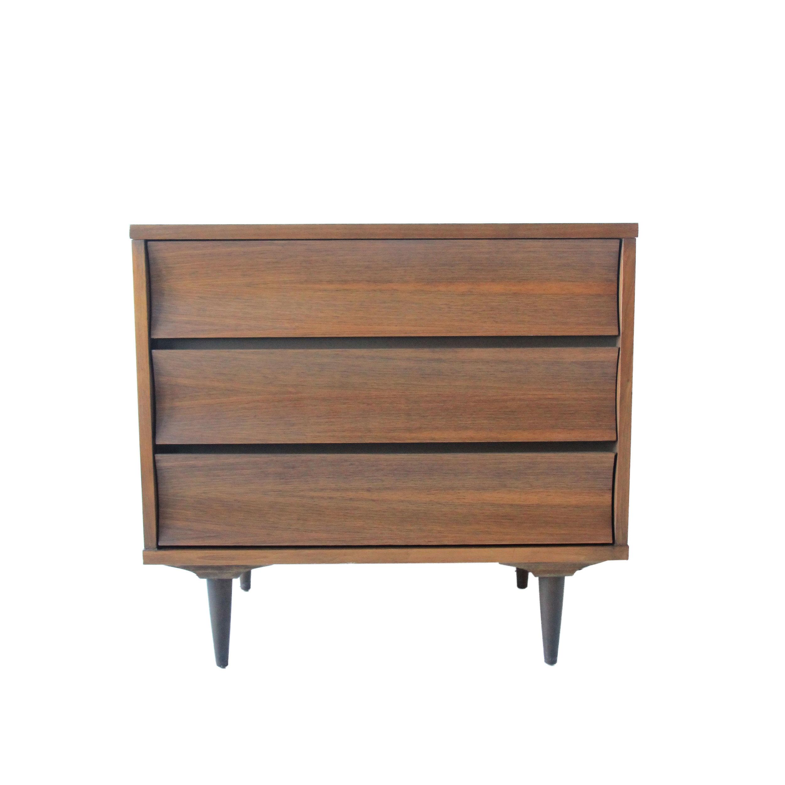 Vintage Mid Century Modern 3 Drawer Dresser by Johnson Carper