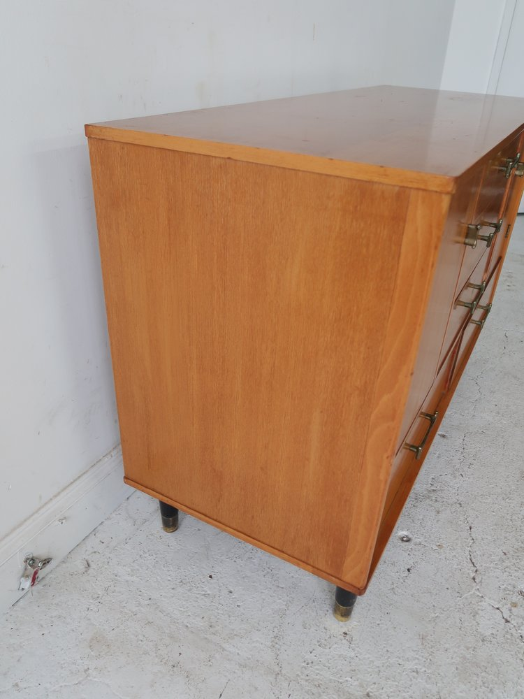 """Milo Baughman for /""""New Today/'s Living/"""" Mid Century Modern Blonde Sideboard"""