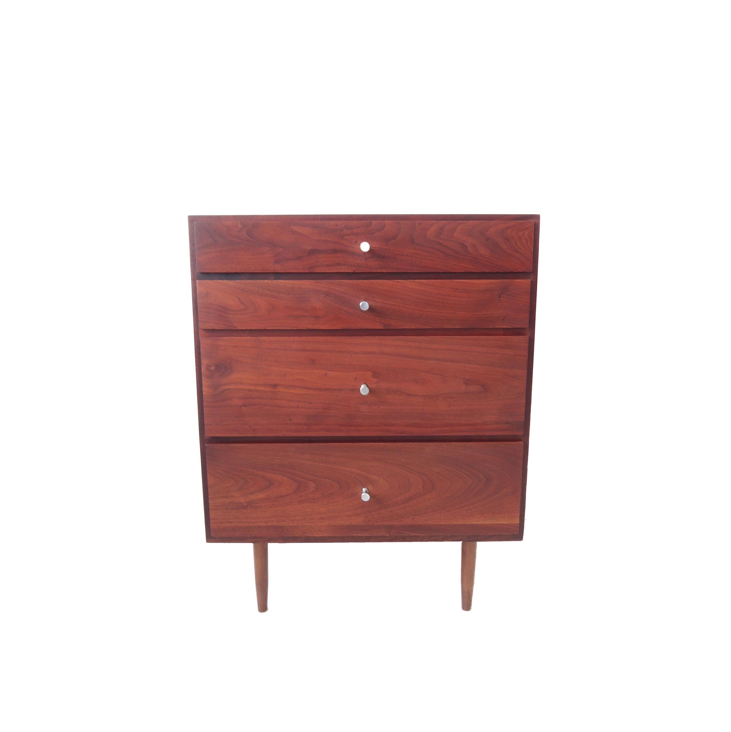 small 4 drawer mid century modern walnut dresser.jpg