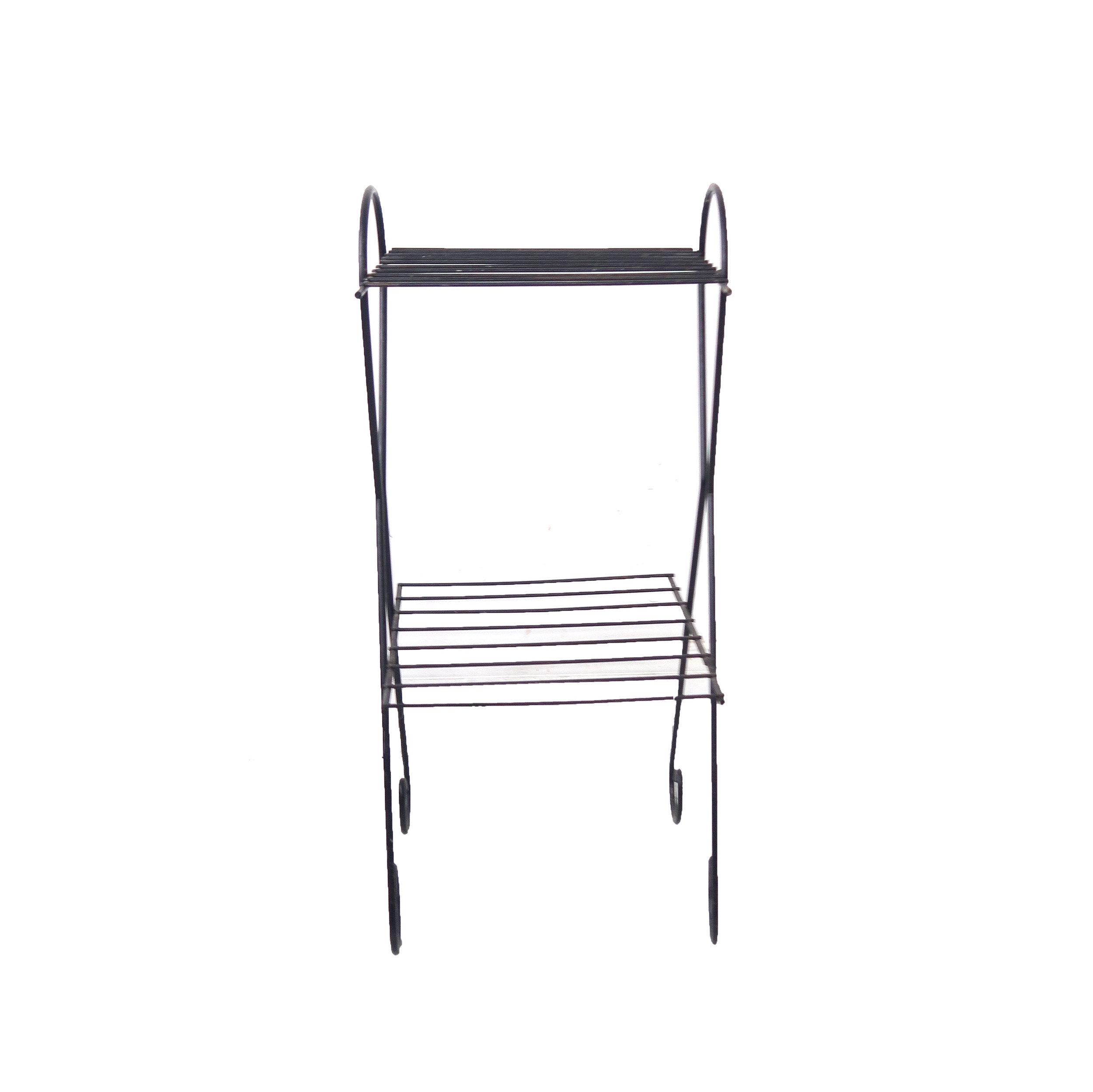 vintage black wire side table.jpg