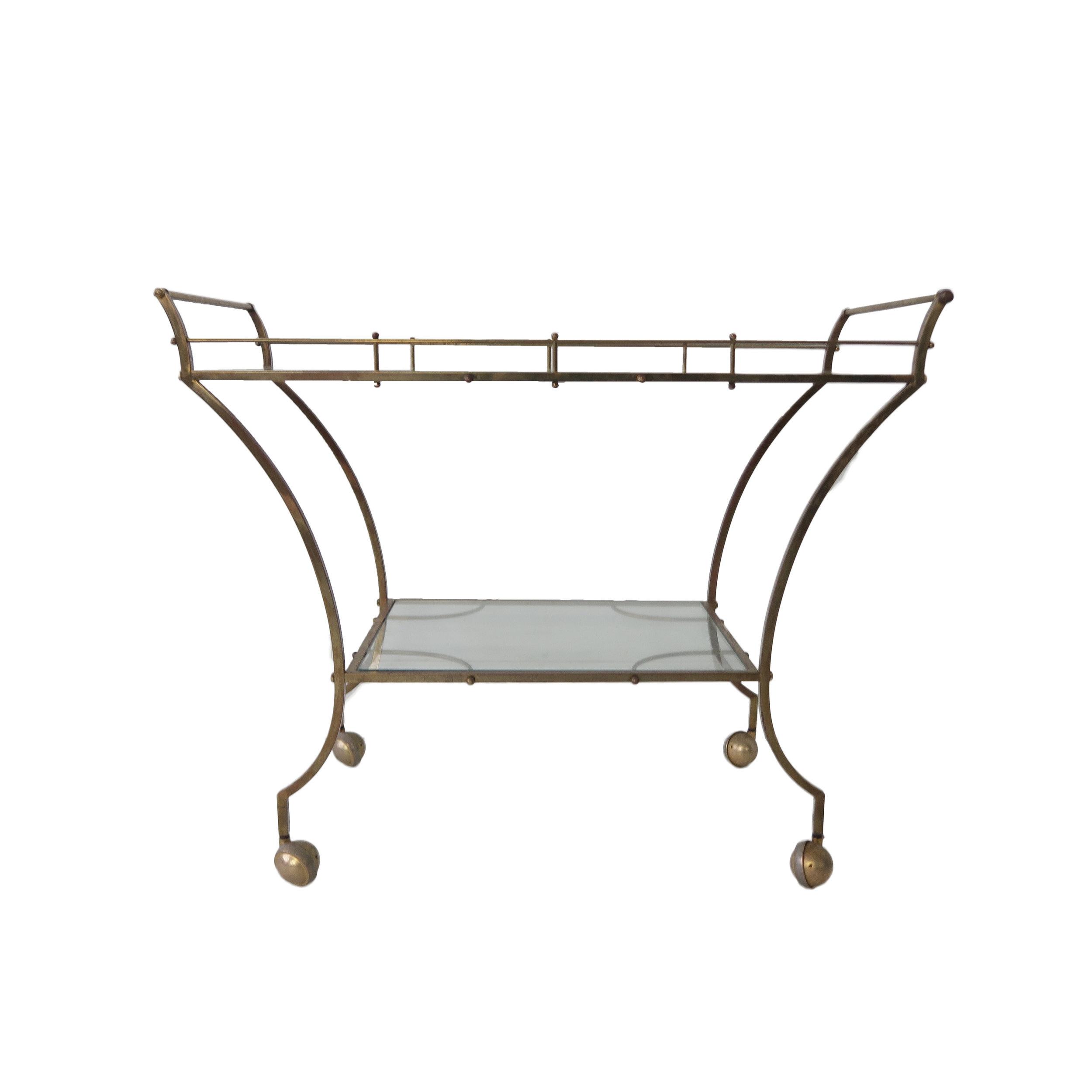 vintage gold brass bar cart.jpg