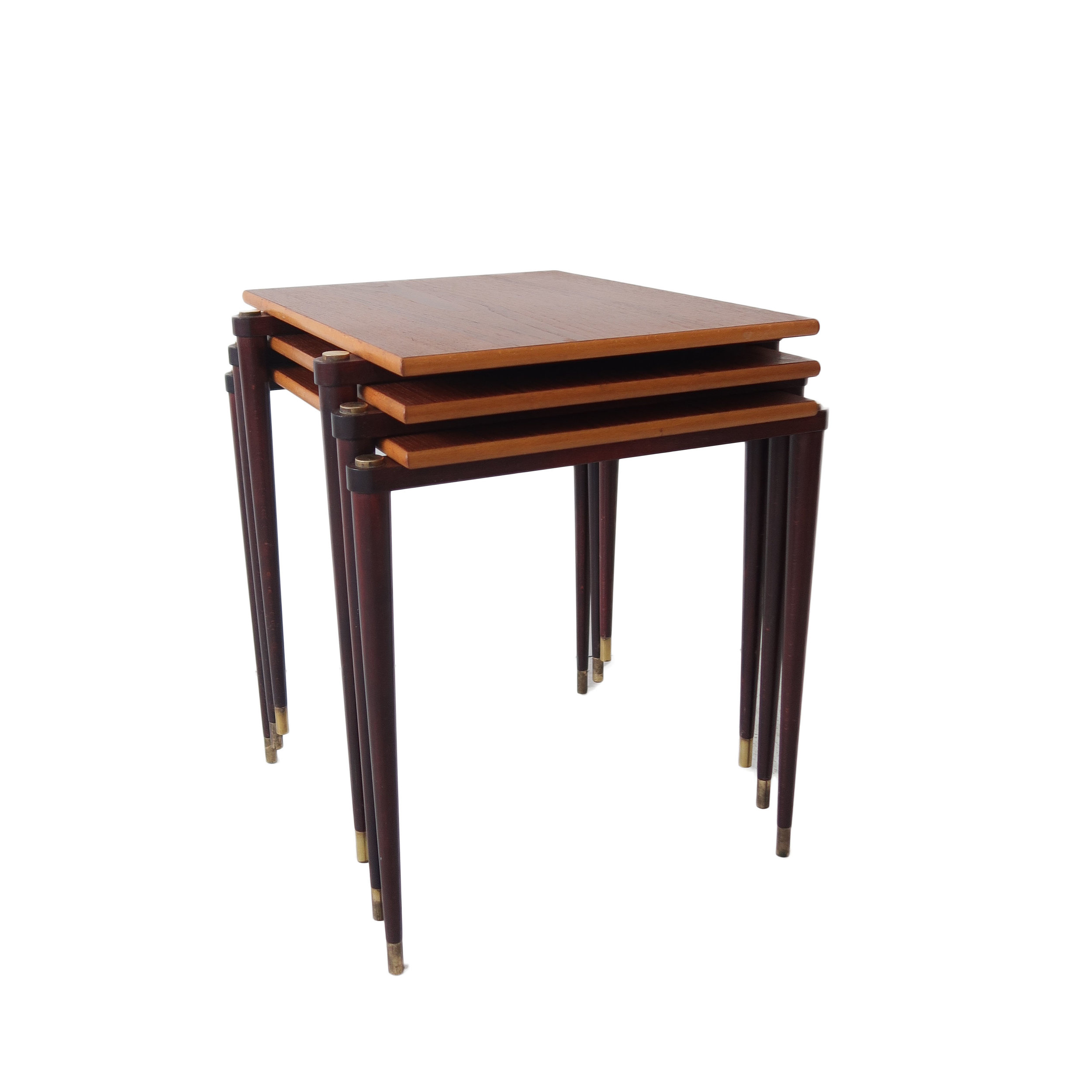 vintage mid century moder teak stacking tables.jpg