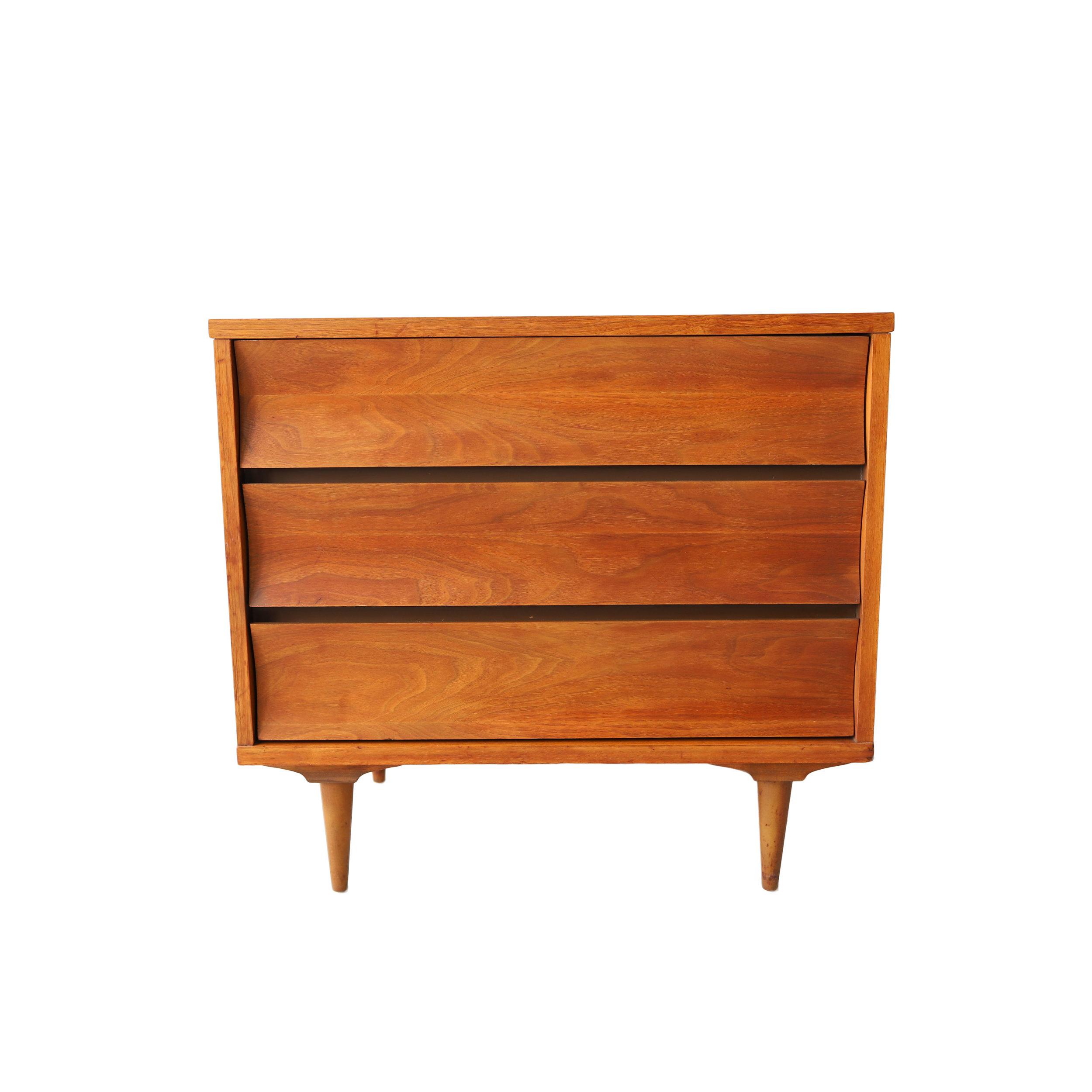 vintage mid century modern 3 drawer dresser by johnson carper.jpg
