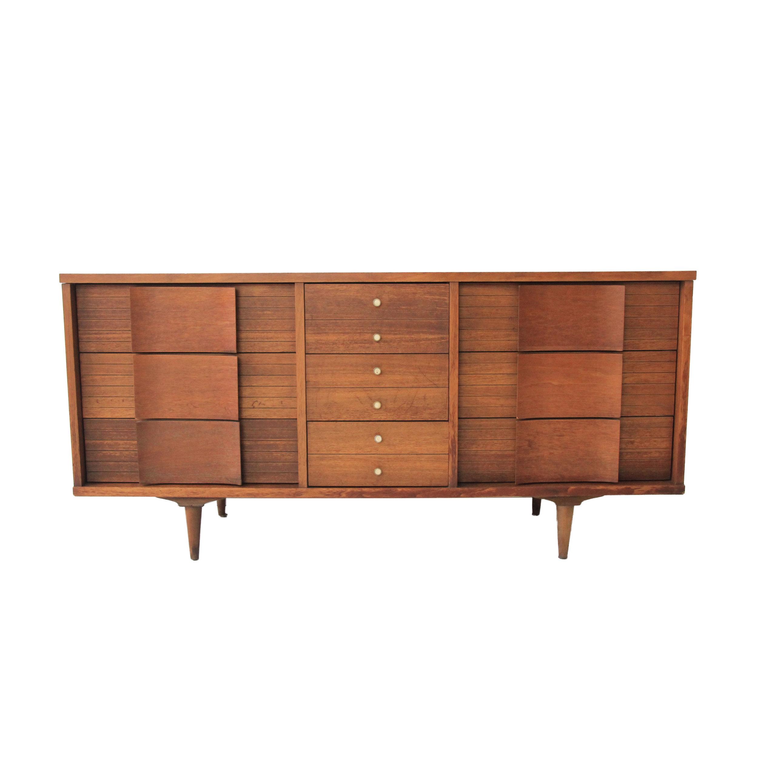 vintage mid century modern 9 drawer dresser.jpg