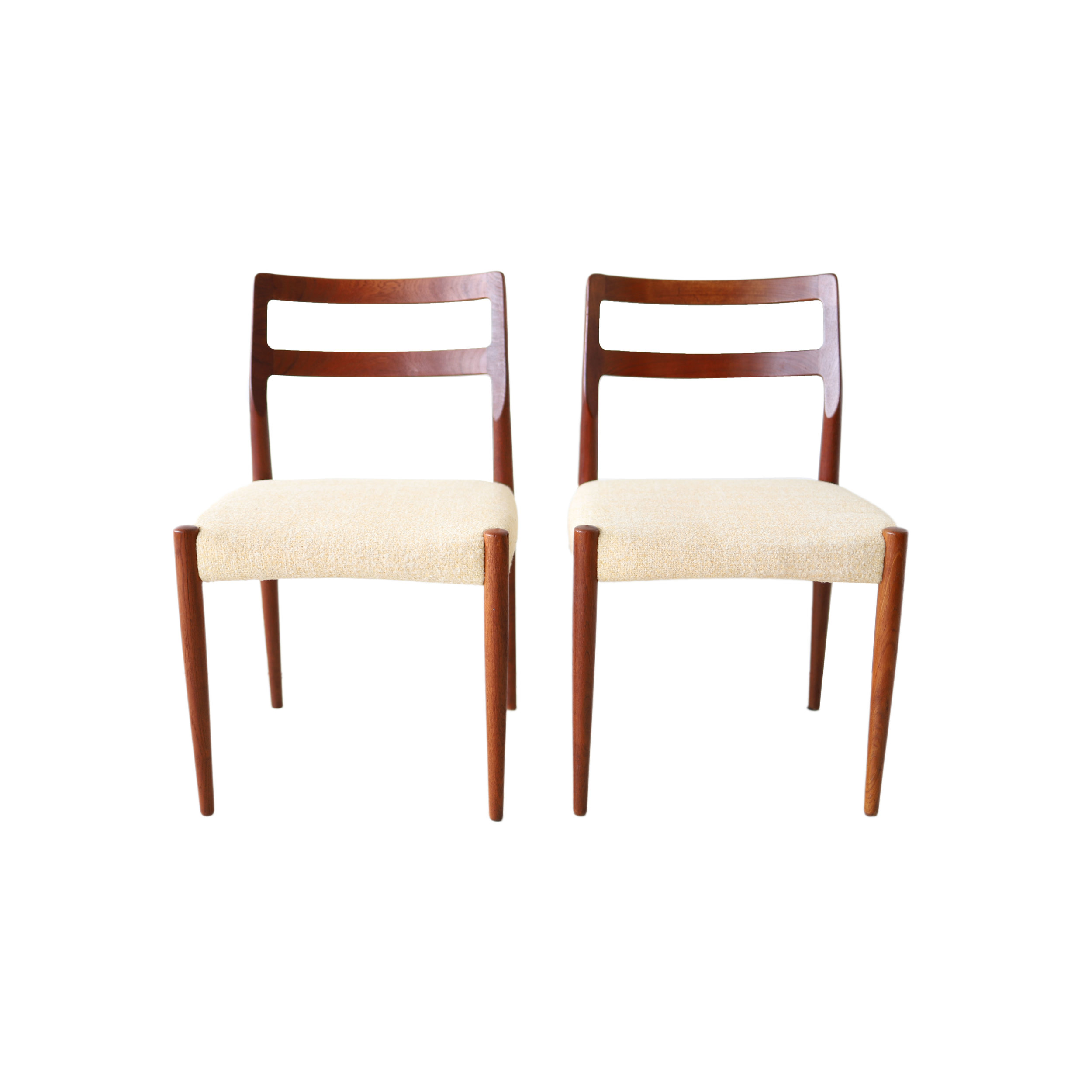 At 1st Sight Products Pair Of Vintage Mid Century Modern Danish Teak Dining Chairs