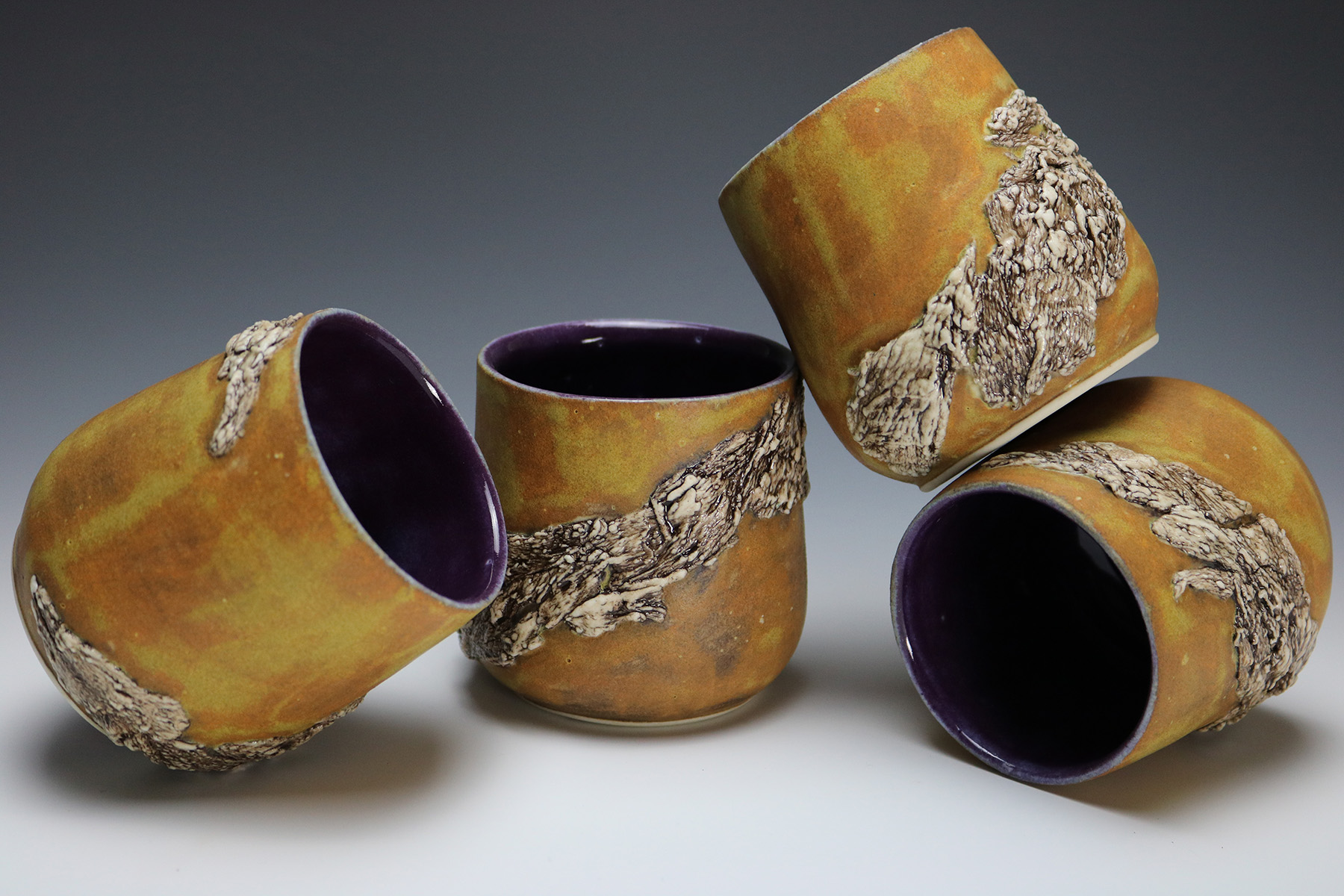 Spiral Bark Kombucha Cups
