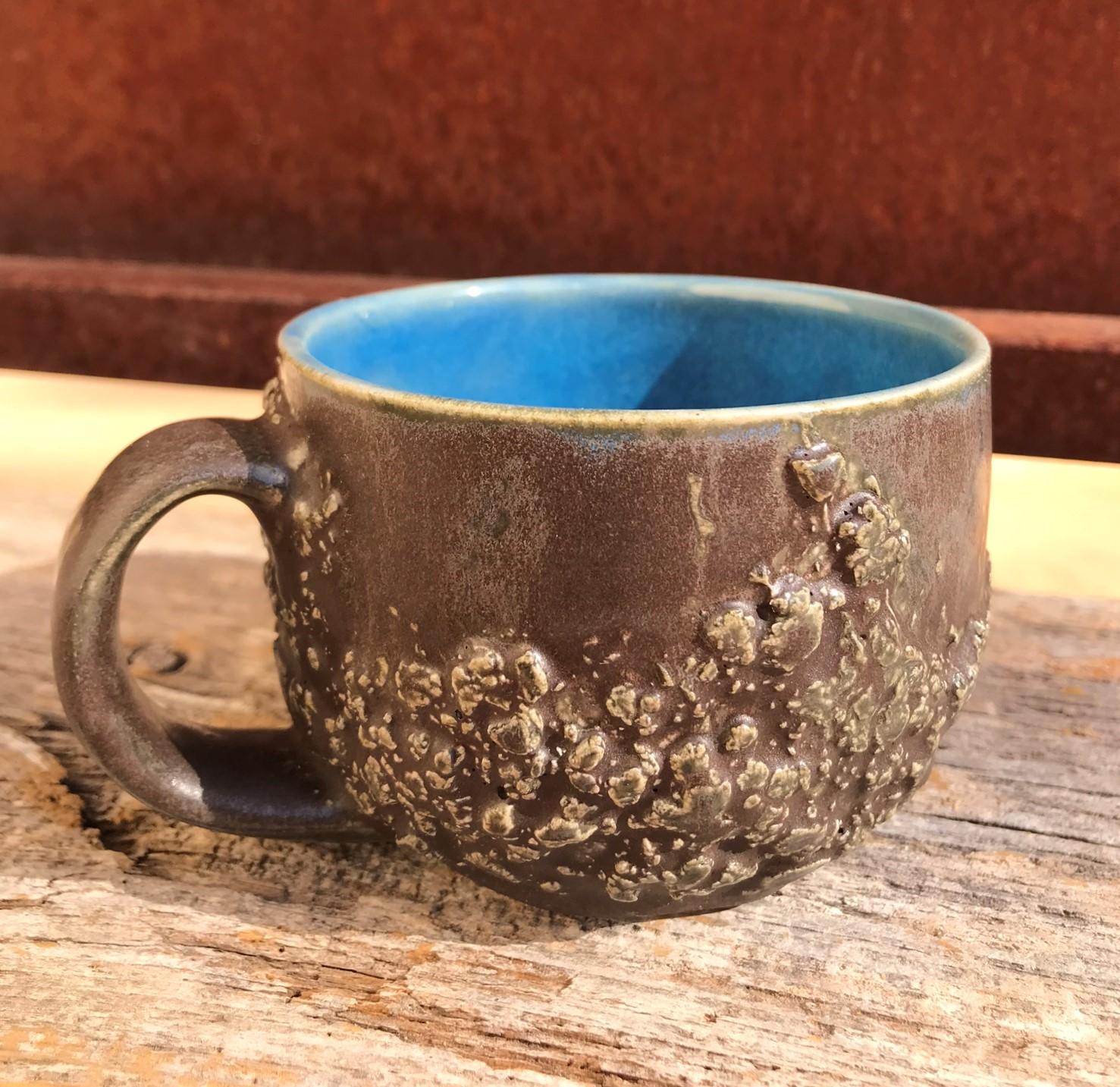 Craggy Texture Stoneware Mug - Rutile Haze/Oasis