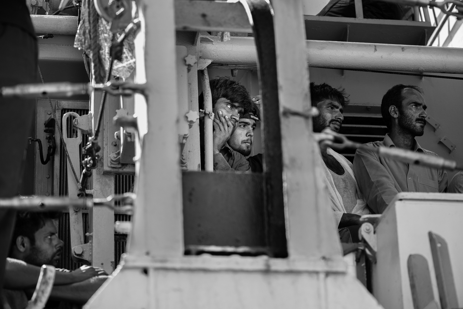 "Bangladesh guys inside the ""nave sfinge"" in the Augusta's harbour.  VIDEO/1"