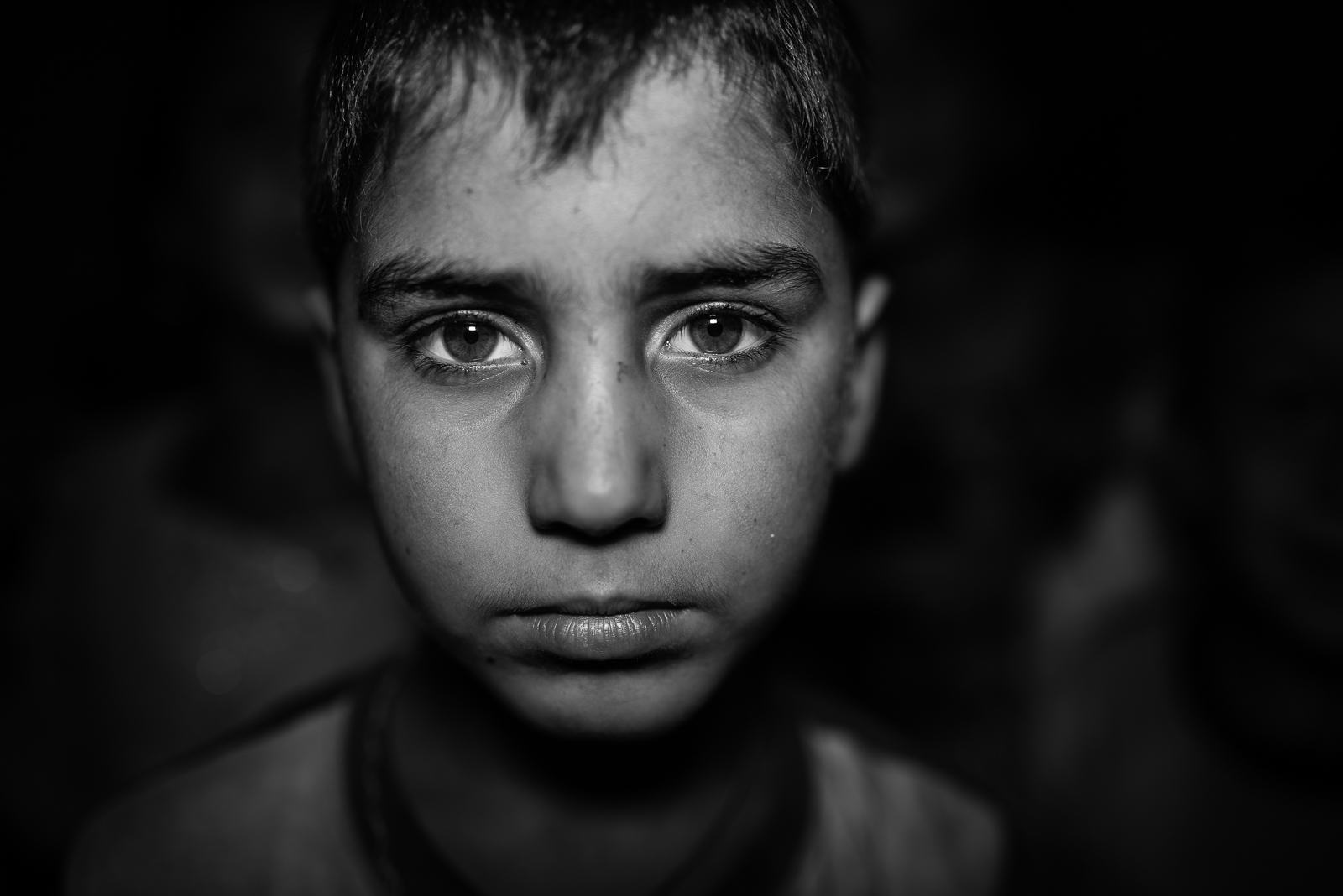 The soul of a young refugee inside a school in Zakho