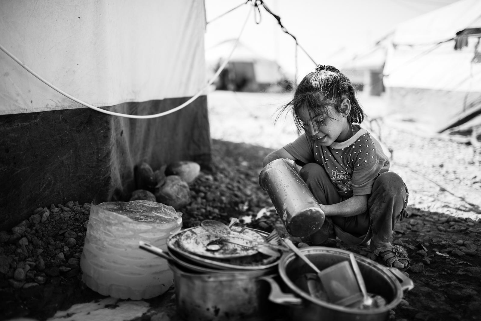 Refugees camp in Erbil
