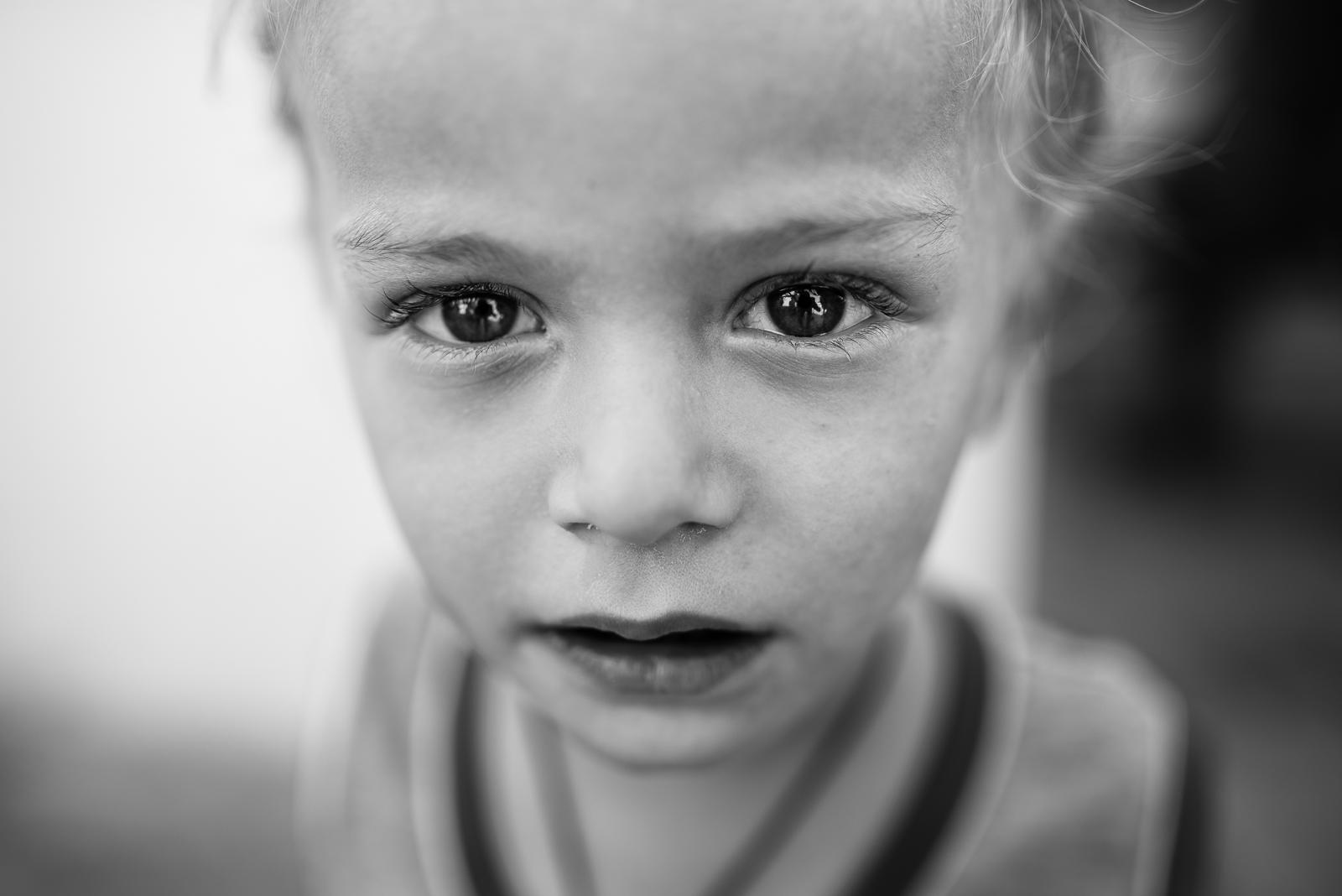 A child in a christian camp in Erbil