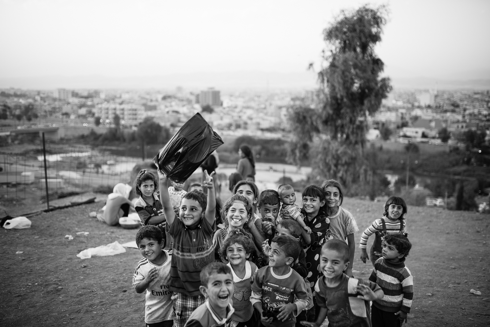 Children happiness in the Zakho's refugees camp