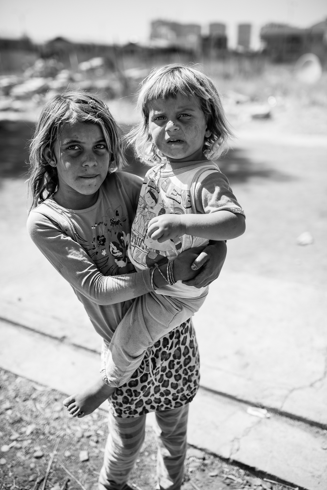 Sister in Erbil's small refugees camp