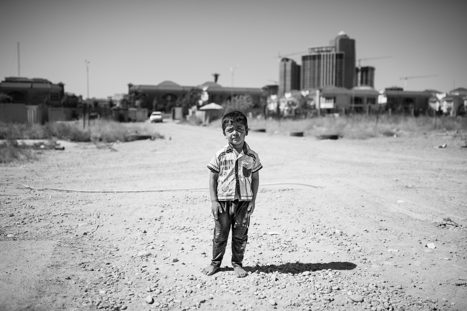 Child in a Erbil small refugees camp