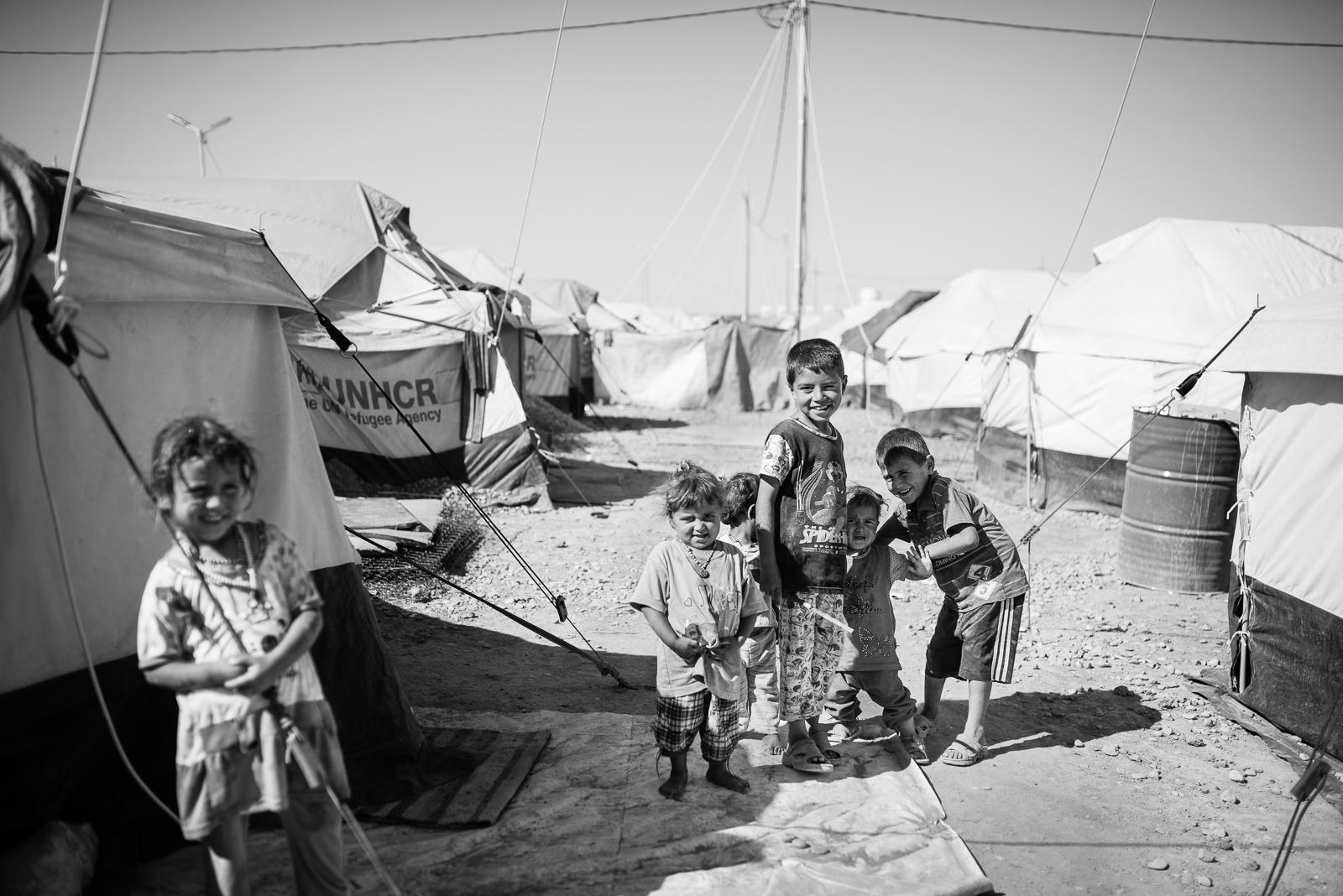 Friends in the Erbil big camp