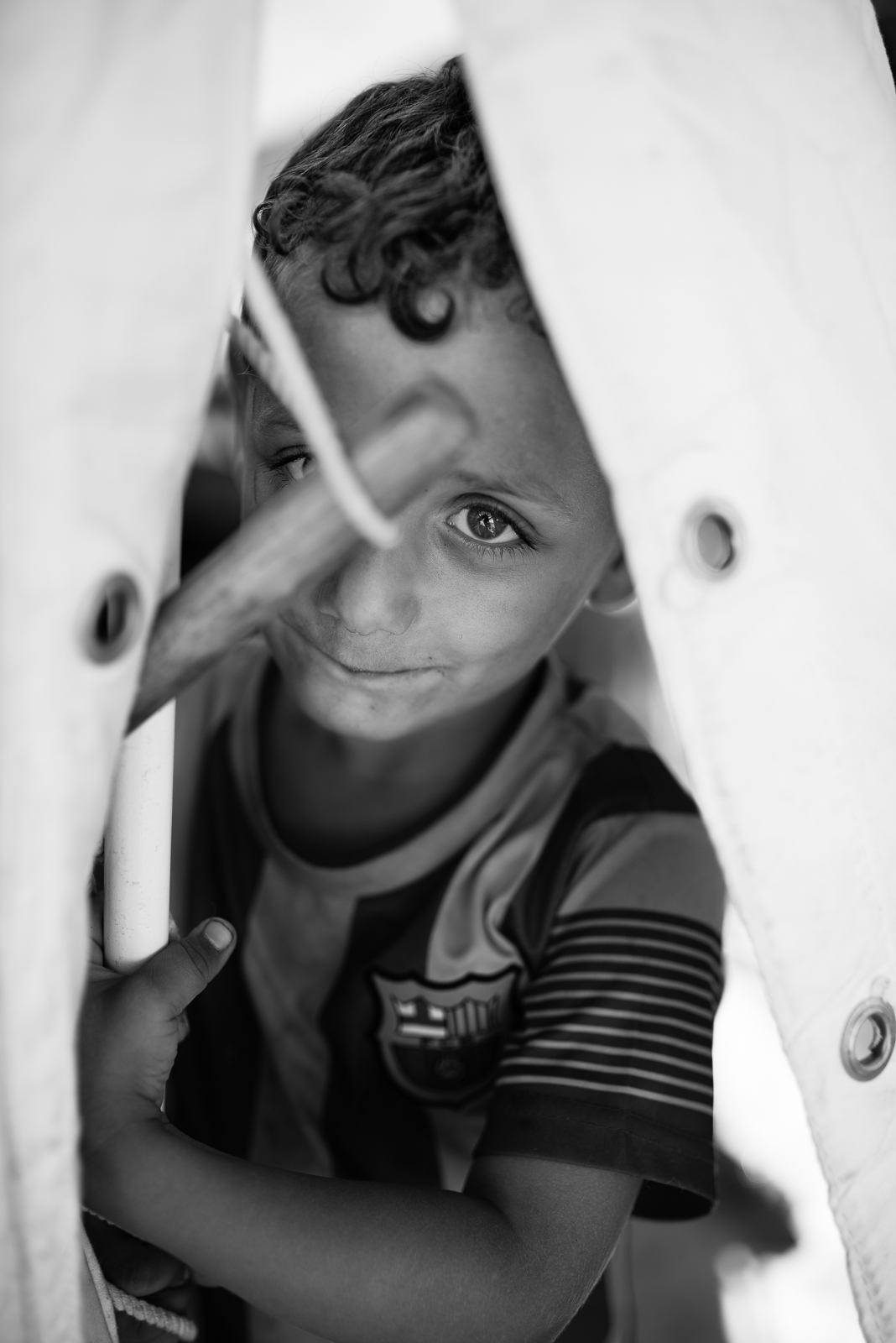Timidity. Christians refugees camp in Erbil
