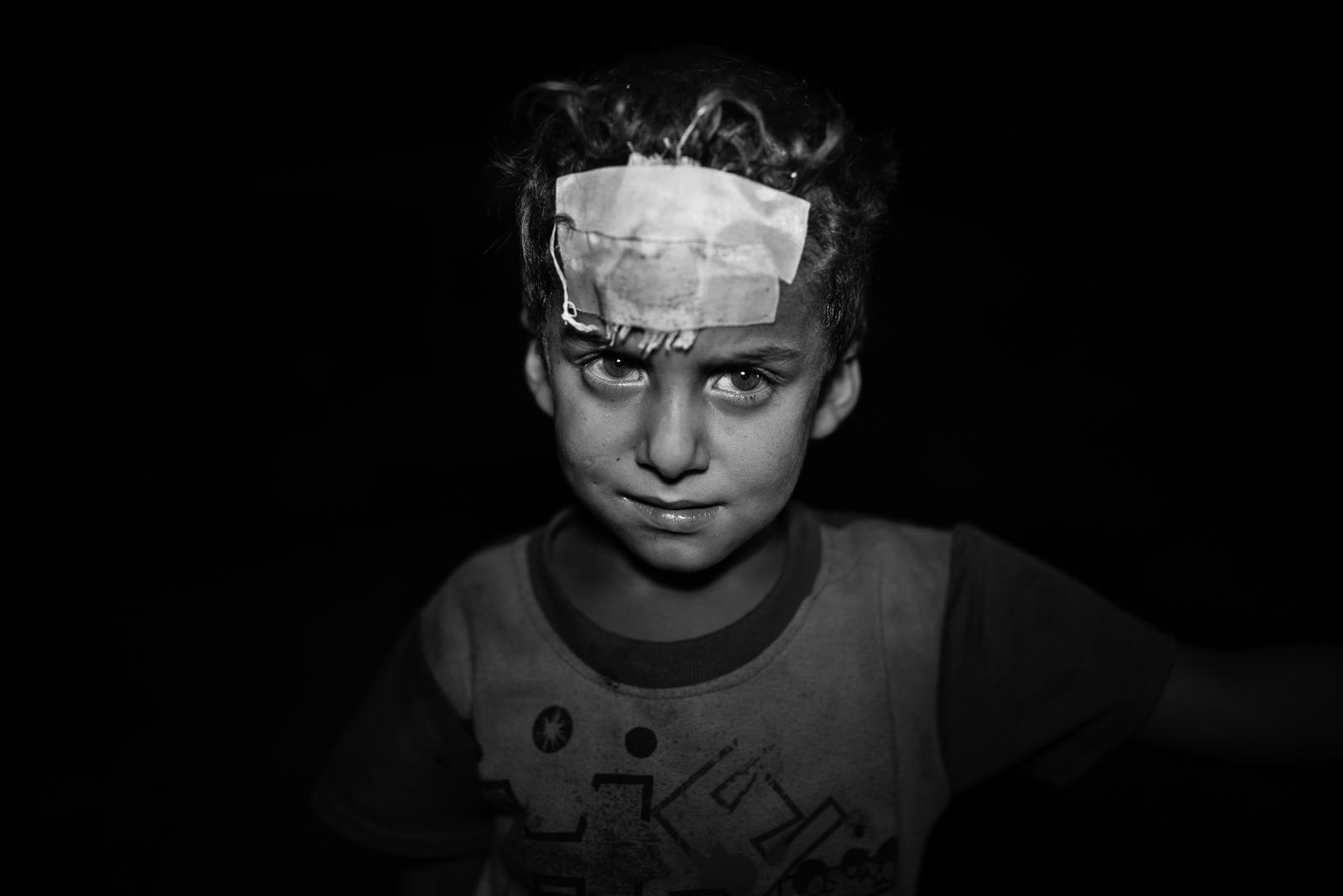 Little boy in a school of Zakho