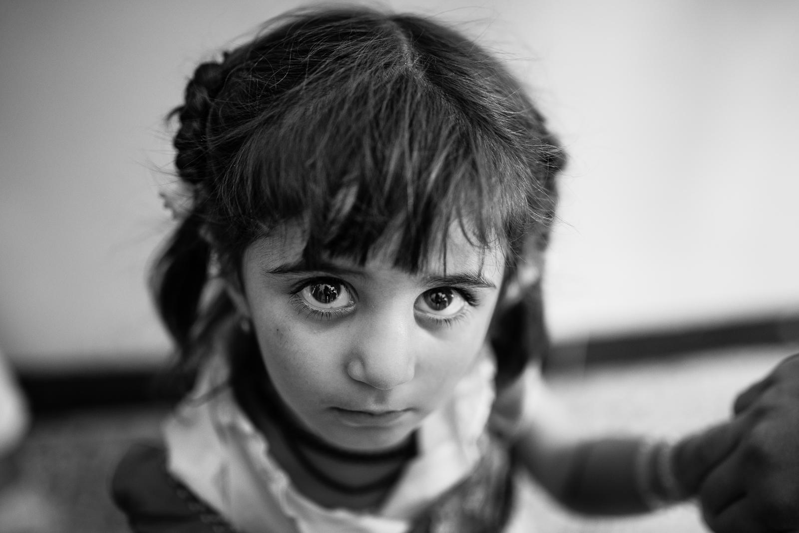 Little girl inside a Zakho's school
