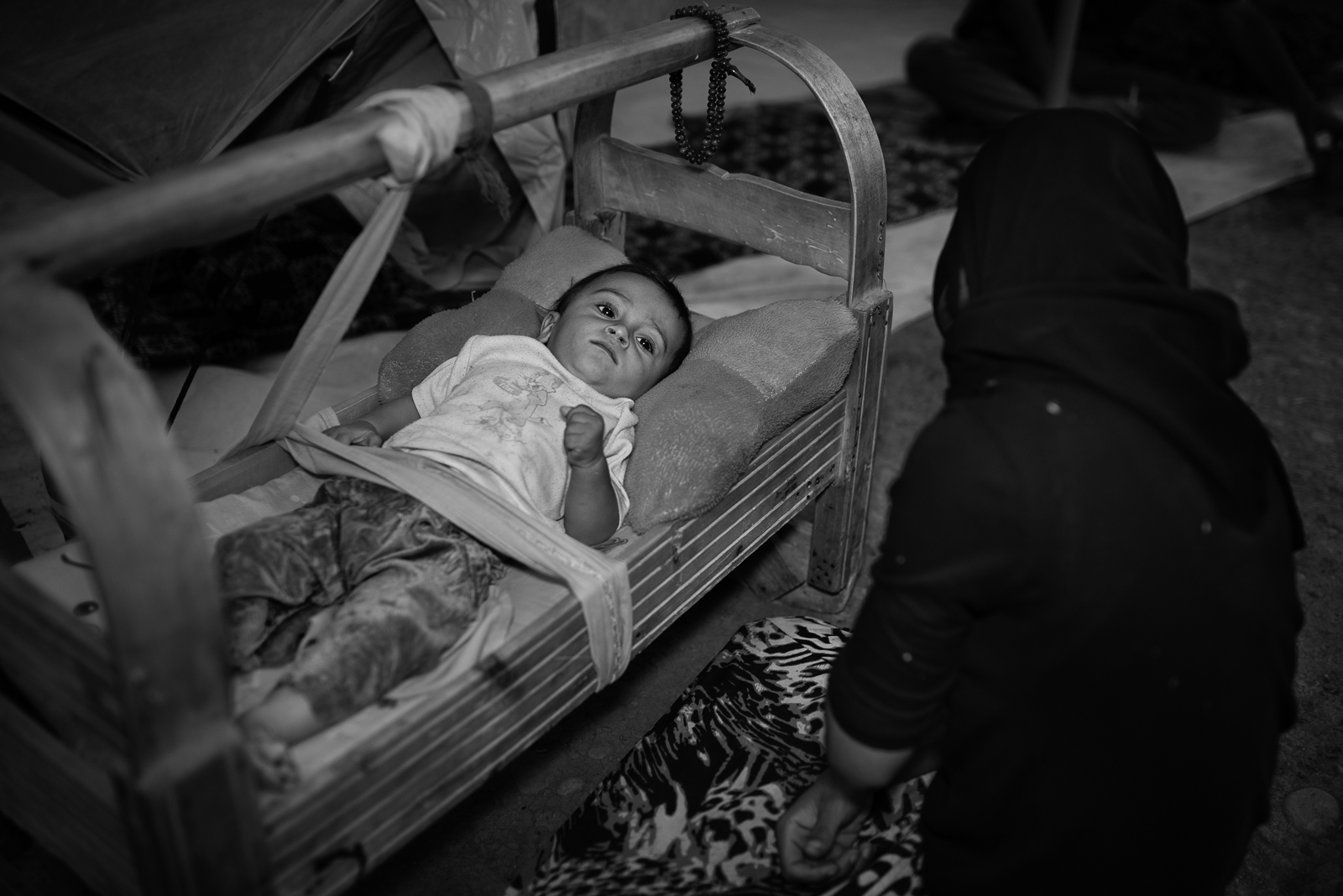 Mother and son in the Zakho's refugees camp
