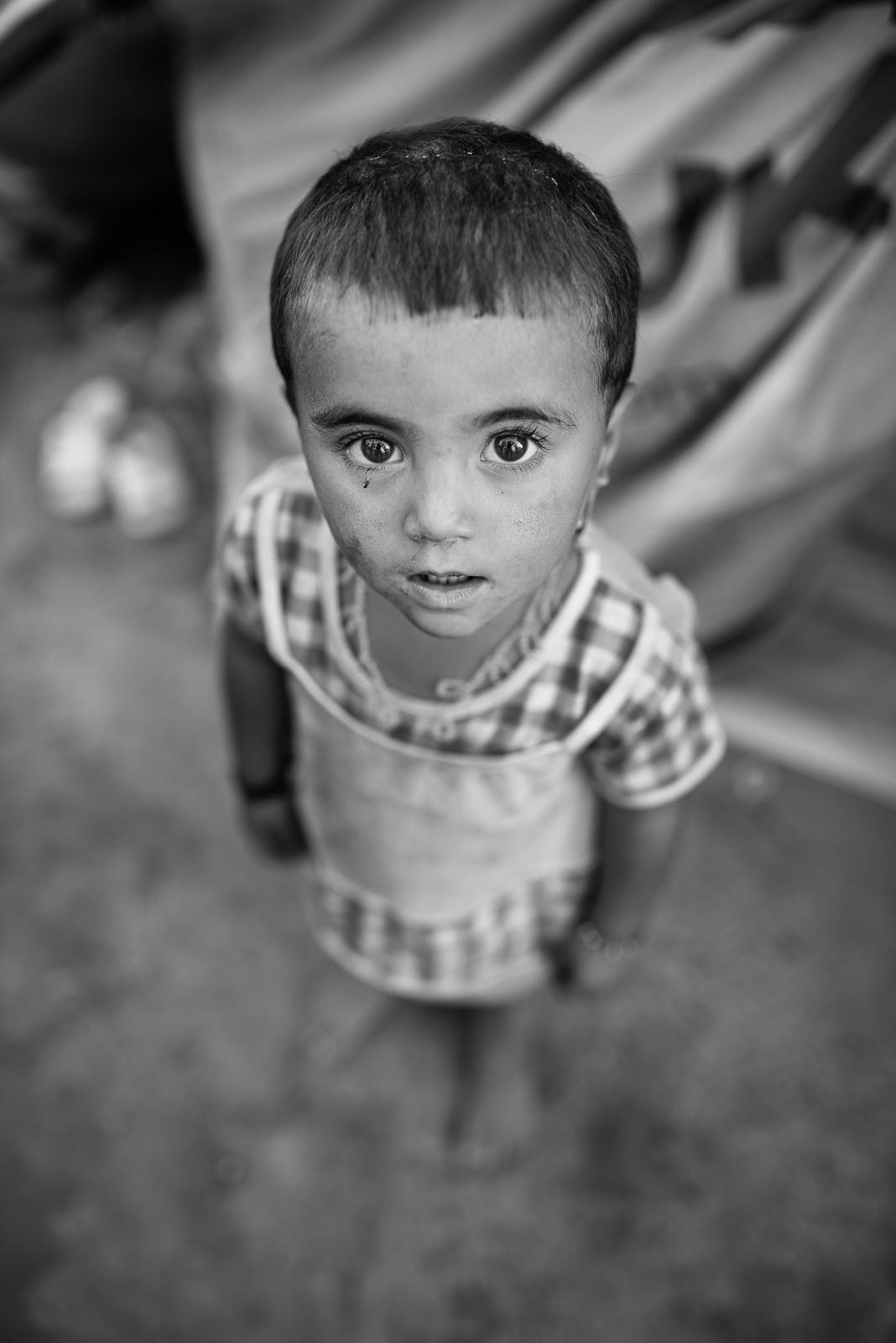Little girl in the Zakho's refugees camp