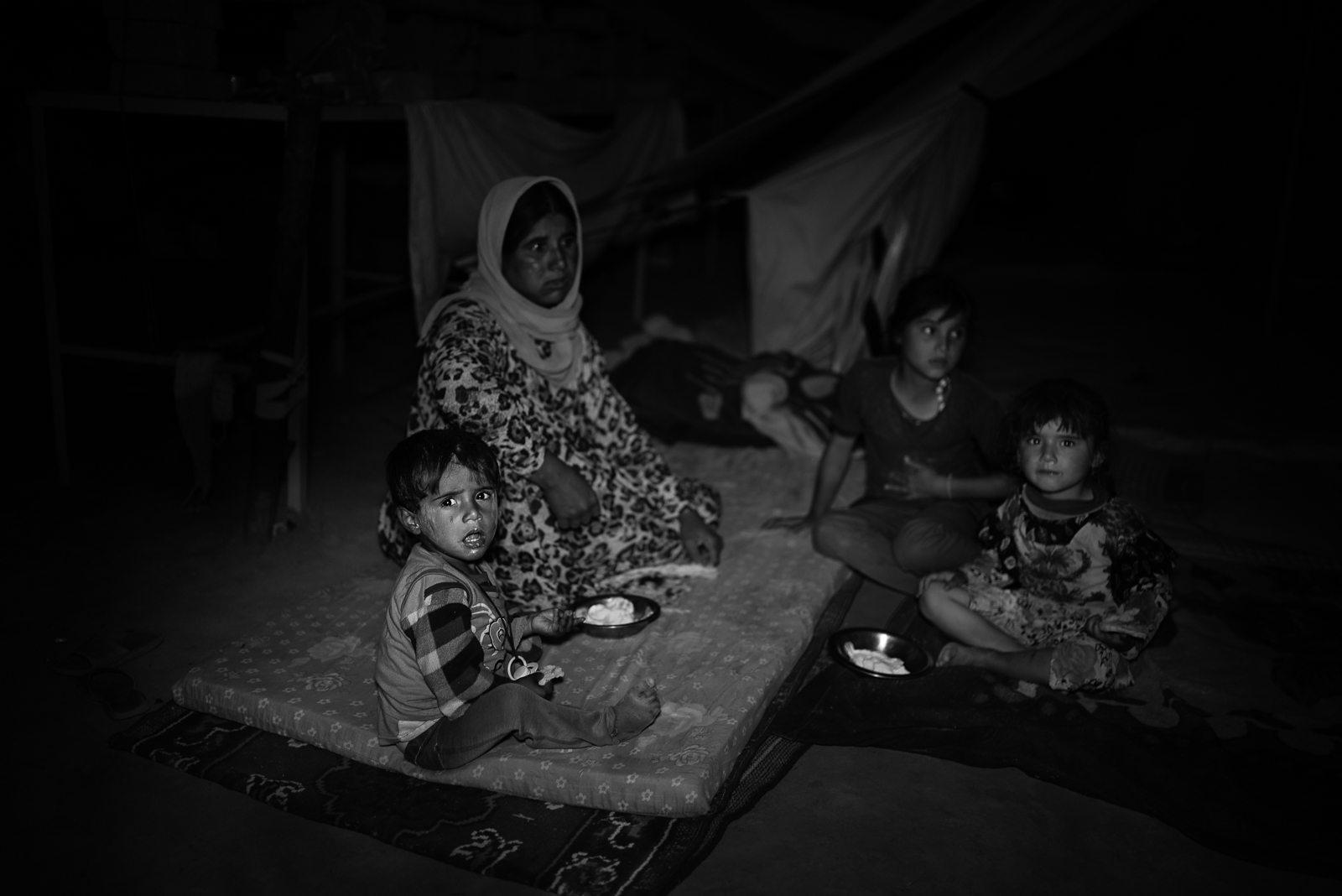 Family in the Zakho's refugeees camp