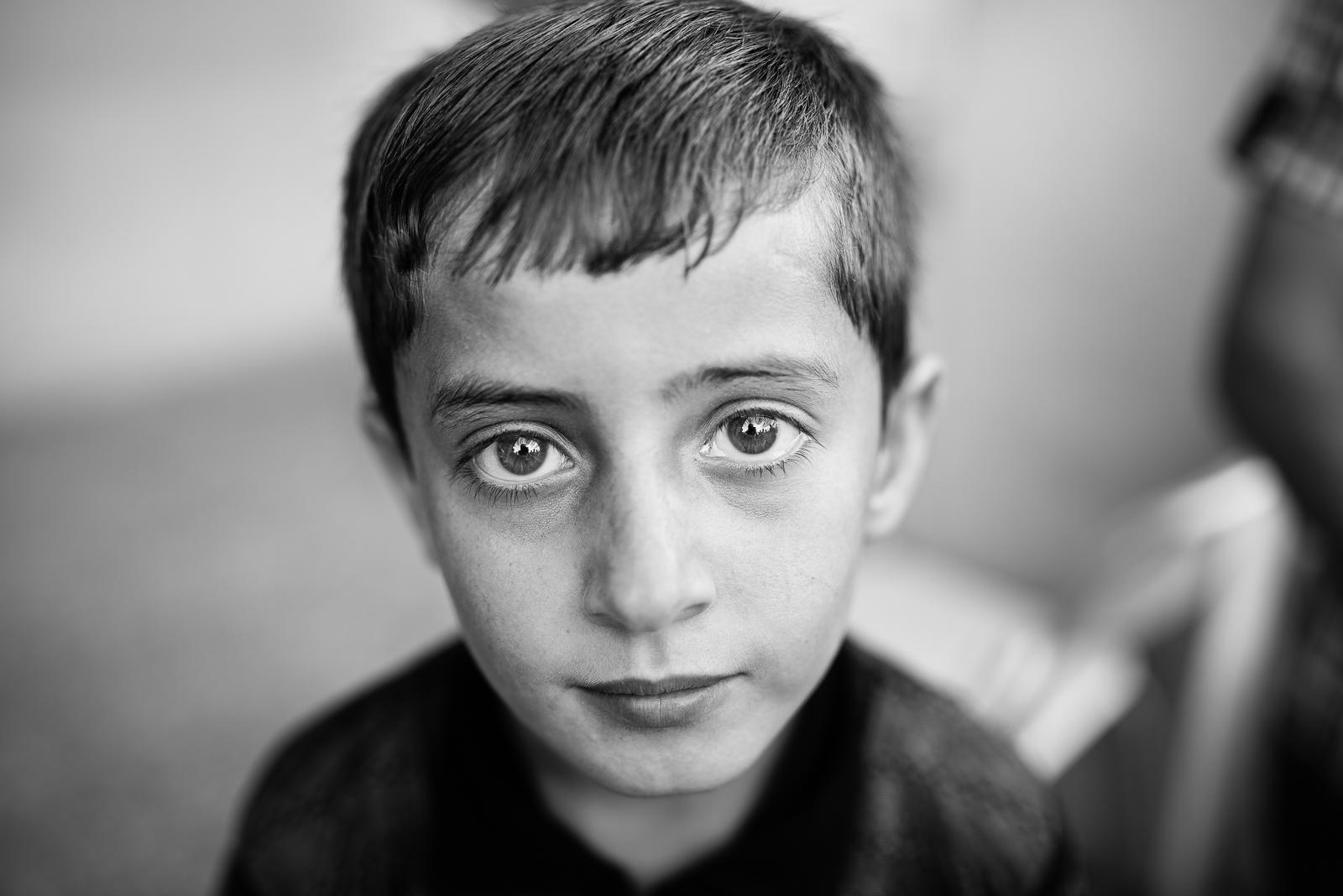 Child in Erbil refugees school