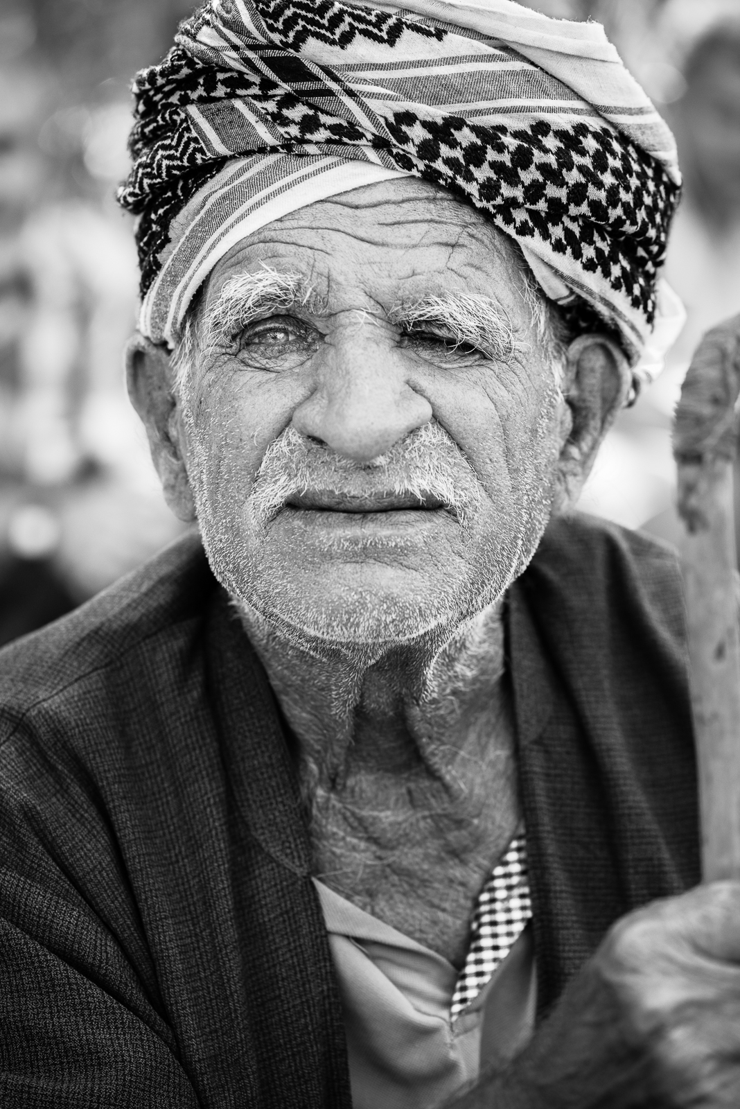 Elder man on the Erbil's streets