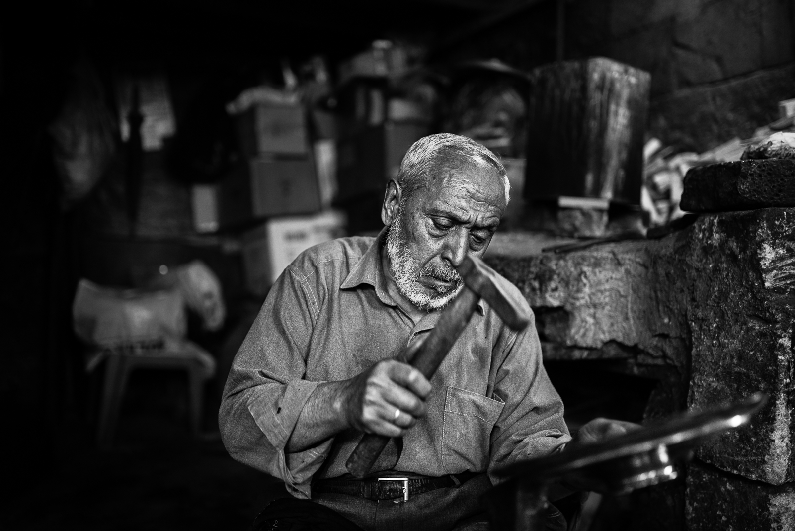 A man and his elder work in Sanliurfa. The video of this photo is  here