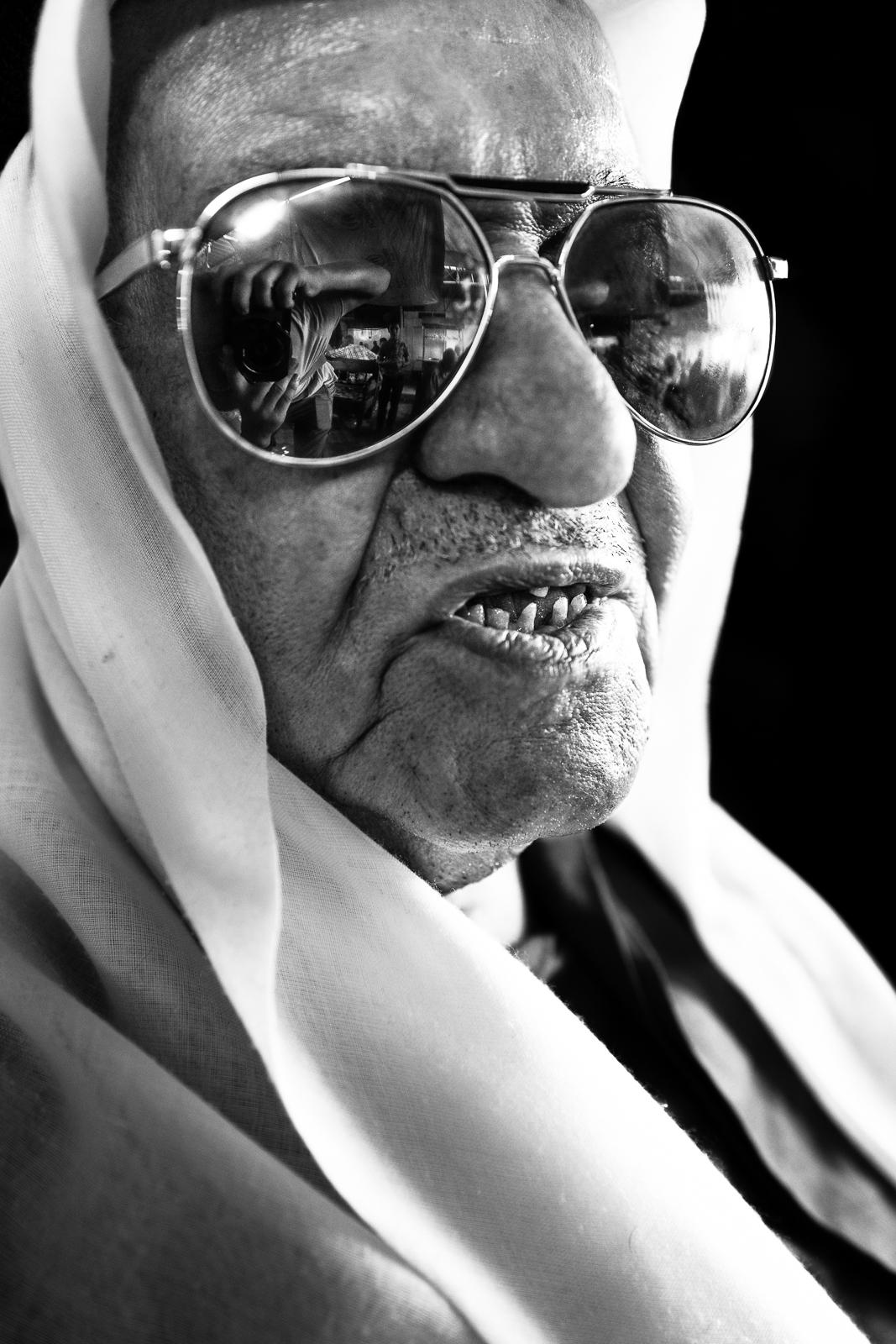 Typical elder man in Mosul, Iraq.