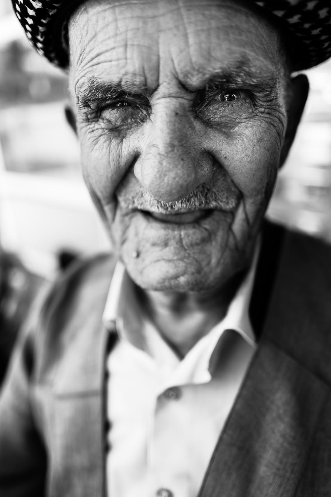 An old kurdish man in Dahuk, Iraq