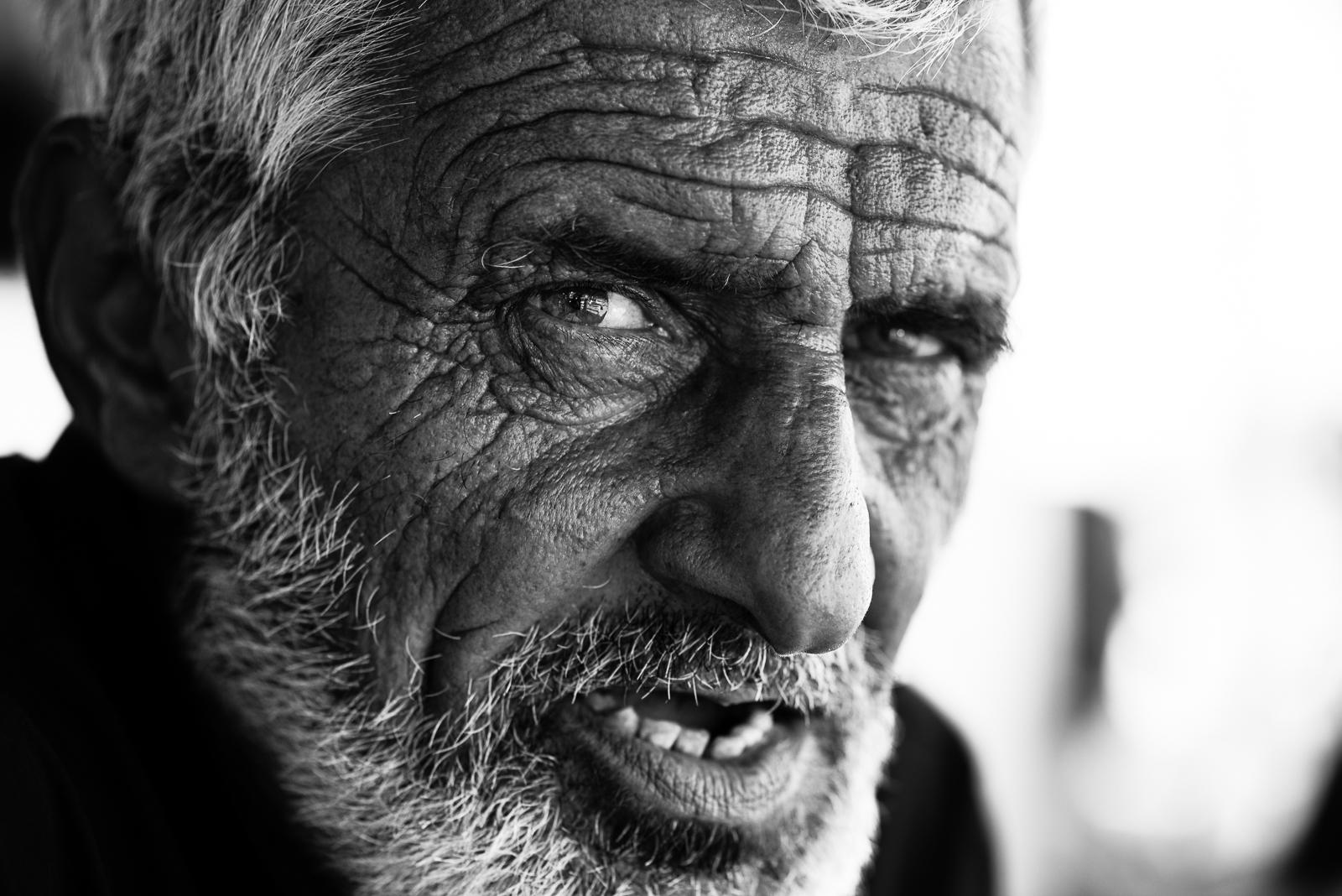 An old kurdish man in Diyarbakir, Turkey