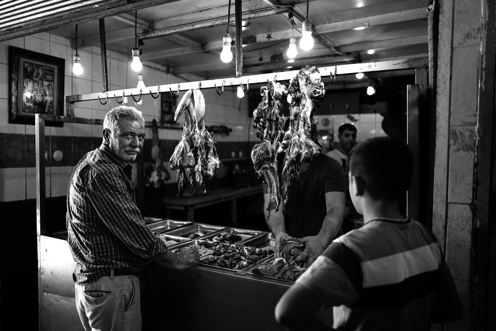 Meat bazaar in Diyarbakir (Turkey)